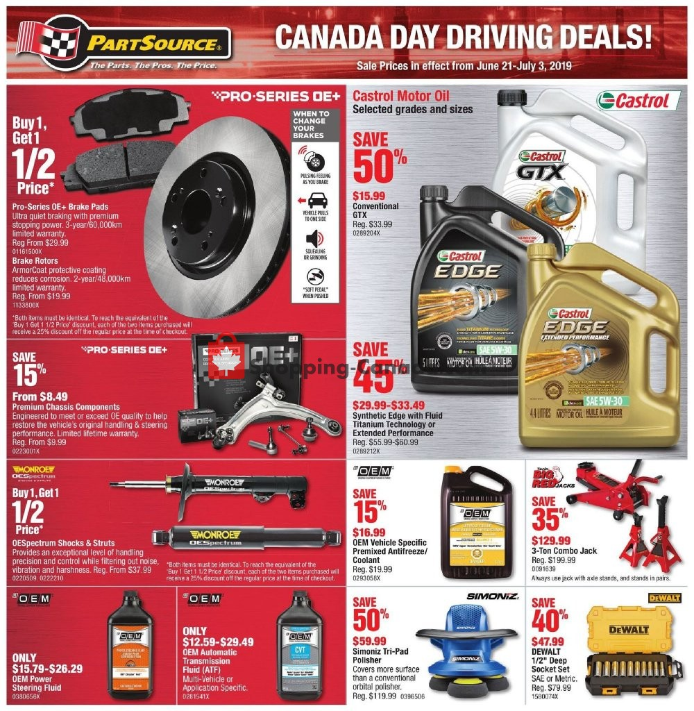 Flyer PartSource Canada - from Friday June 21, 2019 to Wednesday July 3, 2019