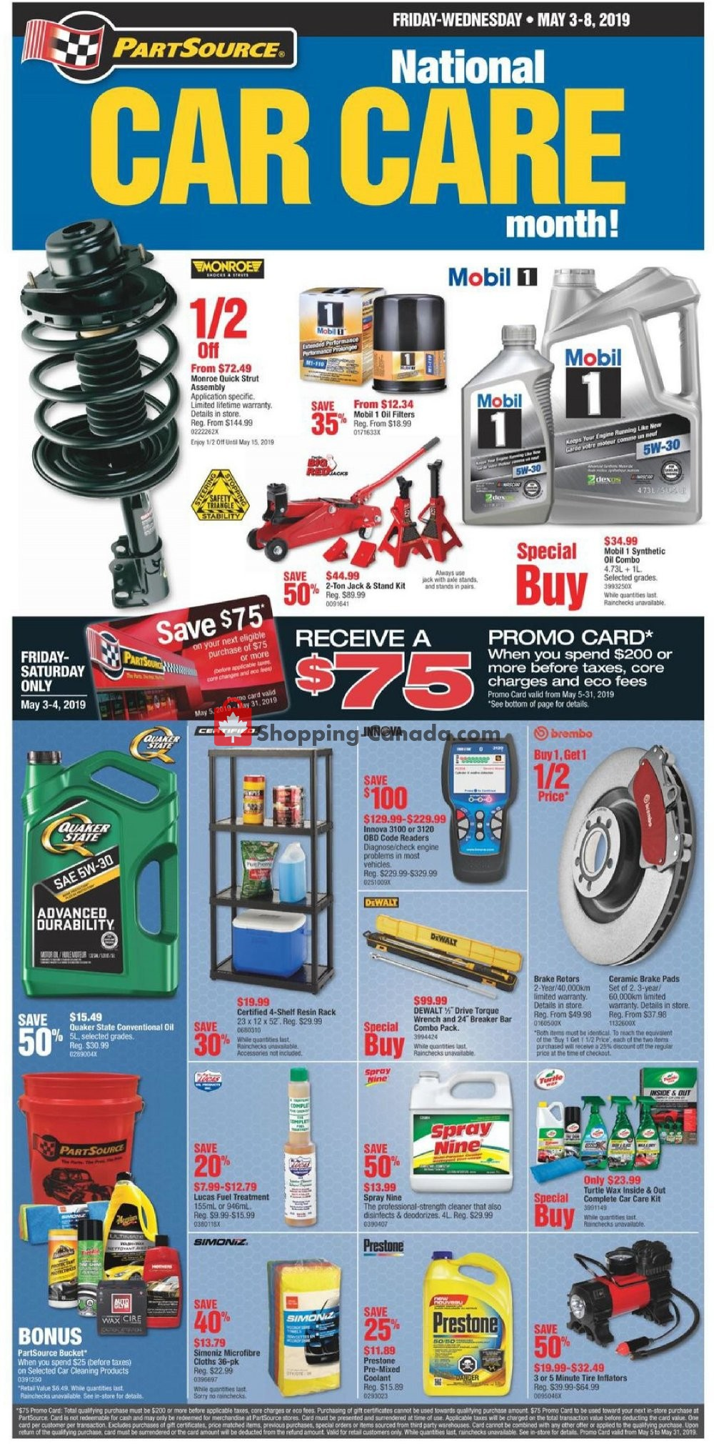 Flyer PartSource Canada - from Friday May 3, 2019 to Wednesday May 8, 2019