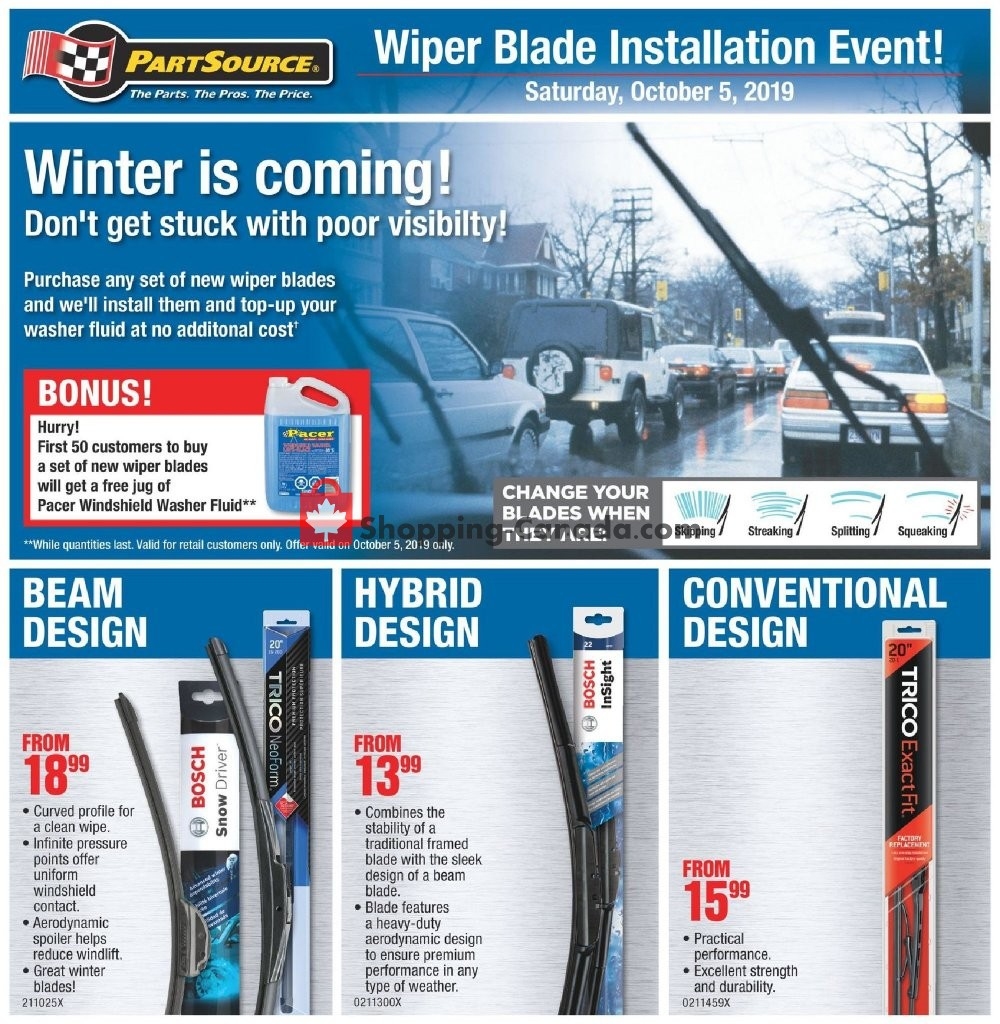 Flyer PartSource Canada - from Friday October 4, 2019 to Wednesday October 16, 2019