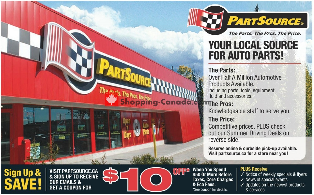 Flyer PartSource Canada - from Friday June 4, 2021 to Wednesday June 16, 2021