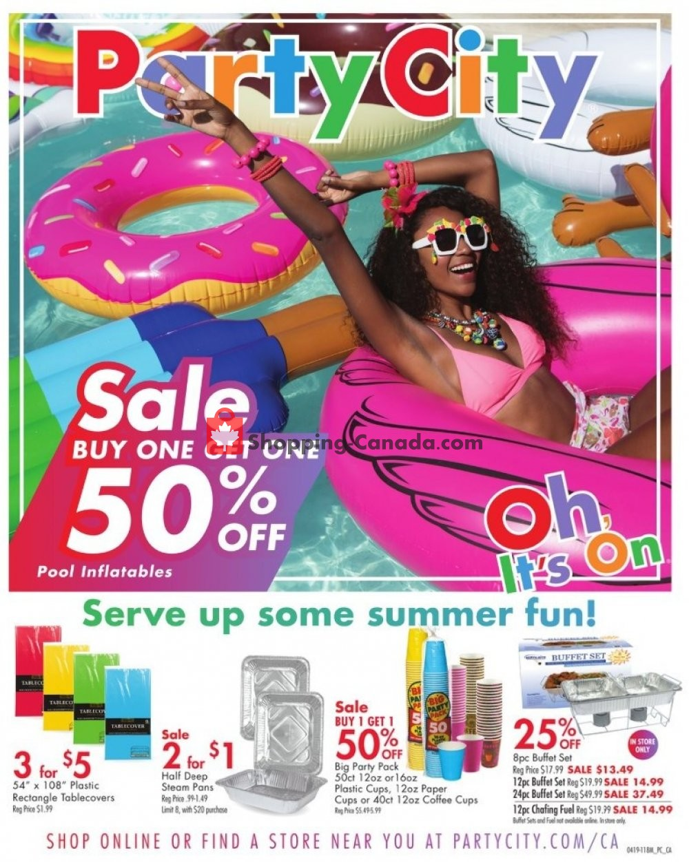 Flyer Party City Canada - from Monday May 13, 2019 to Tuesday May 21, 2019