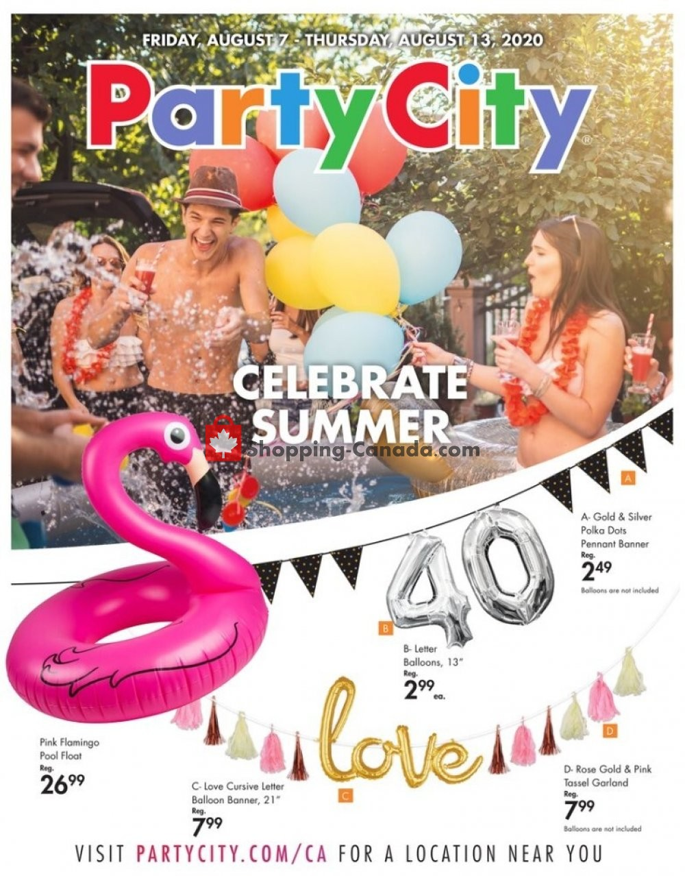 Flyer Party City Canada - from Friday August 7, 2020 to Thursday August 13, 2020
