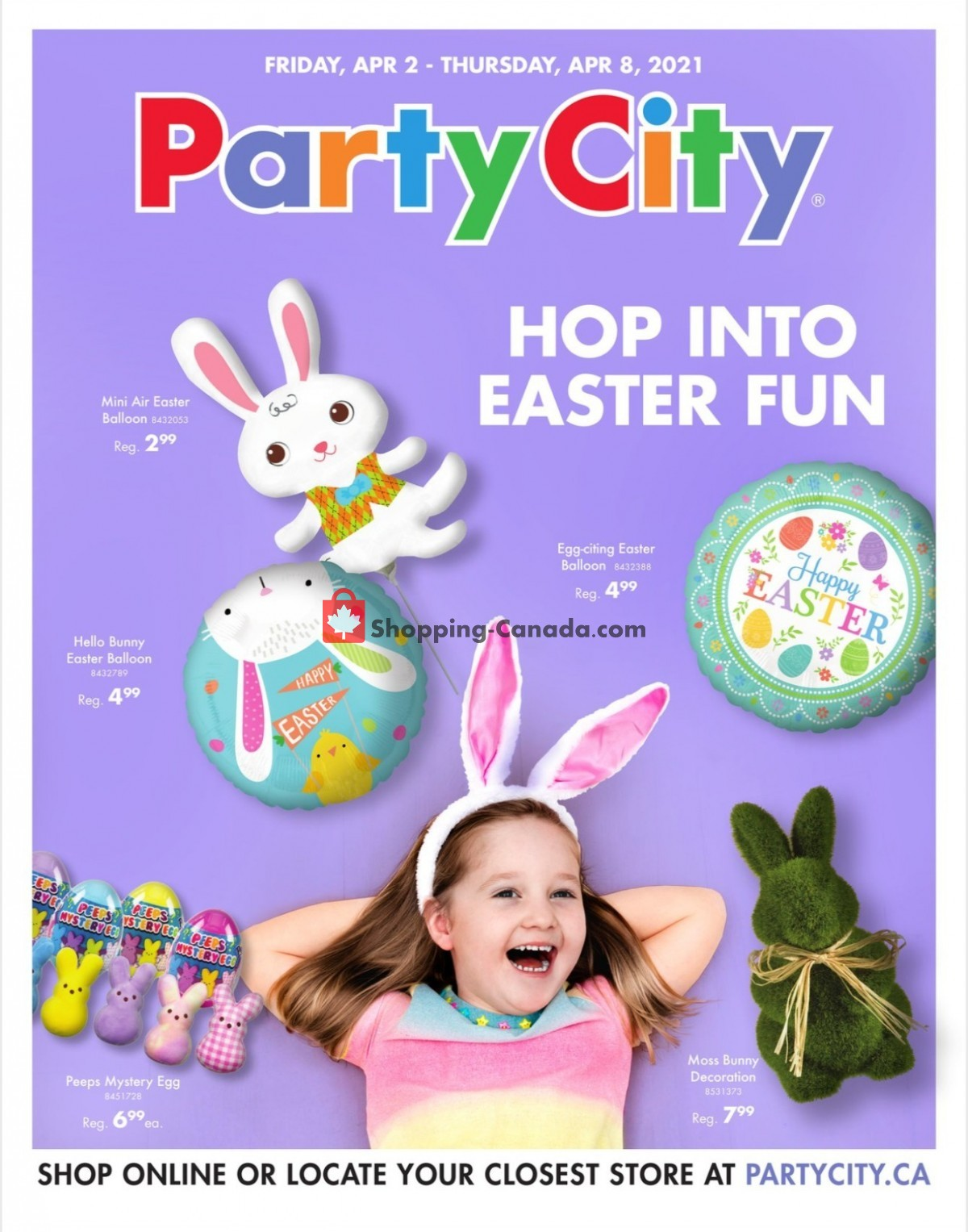 Flyer Party City Canada - from Friday April 2, 2021 to Thursday April 8, 2021