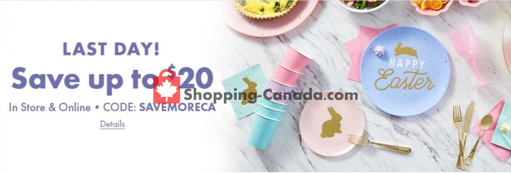 Flyer Party City Canada - from Thursday April 18, 2019 to Wednesday April 24, 2019