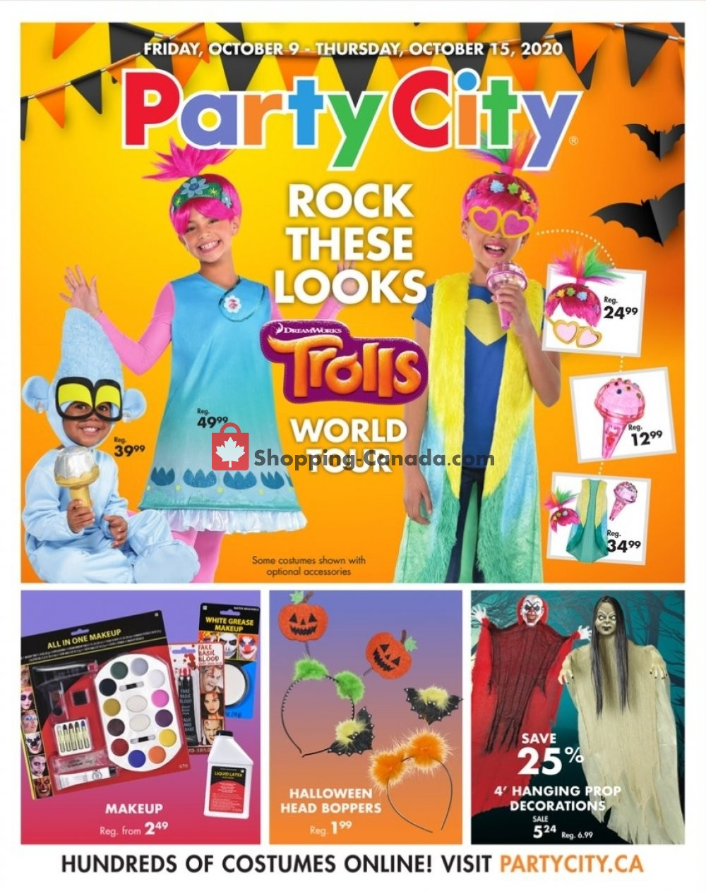 Flyer Party City Canada - from Friday October 9, 2020 to Thursday October 15, 2020