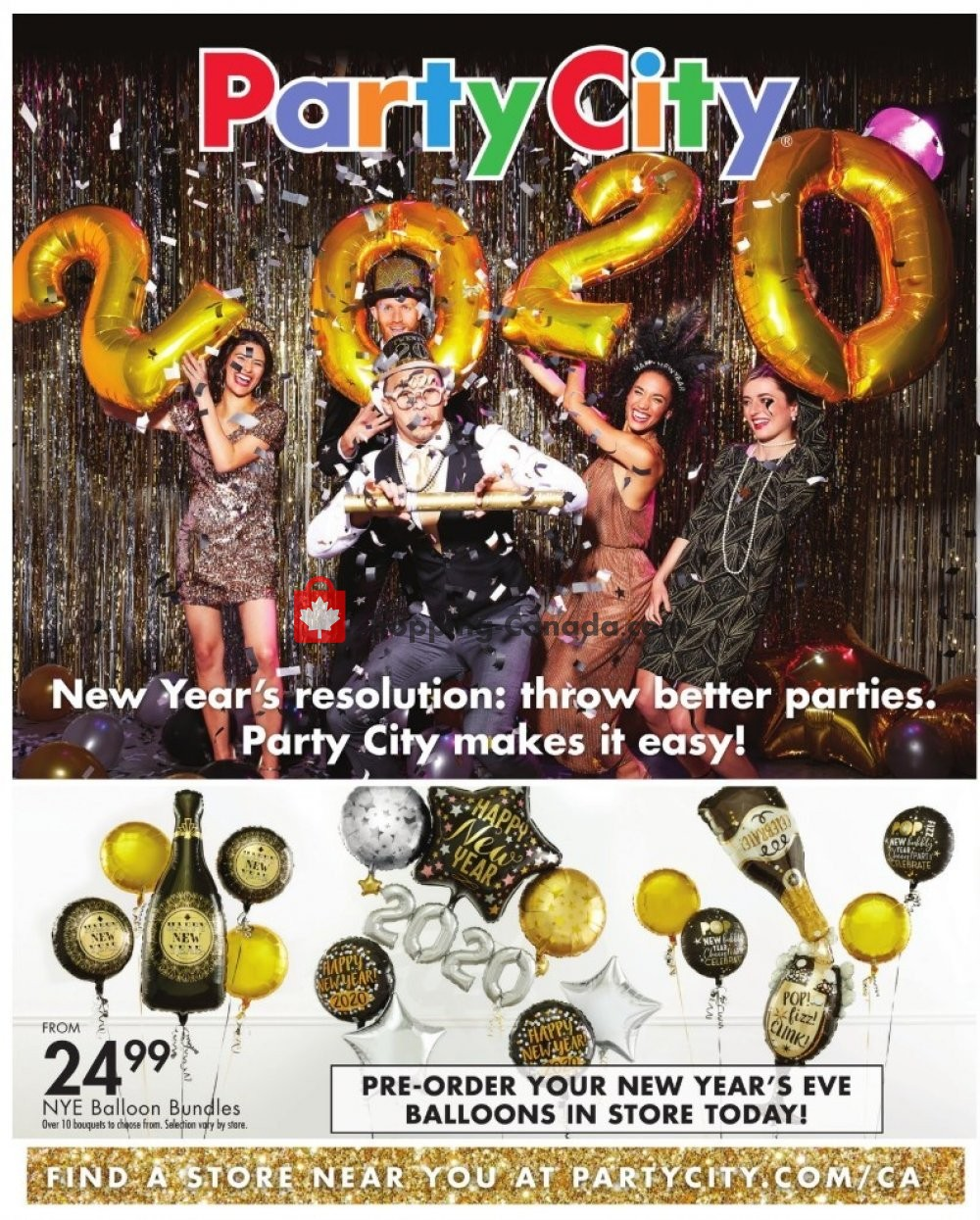 Flyer Party City Canada - from Wednesday December 18, 2019 to Tuesday December 31, 2019