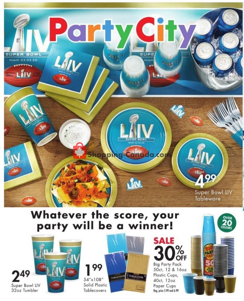 Flyer Party City Canada - from Wednesday January 15, 2020 to Monday February 3, 2020