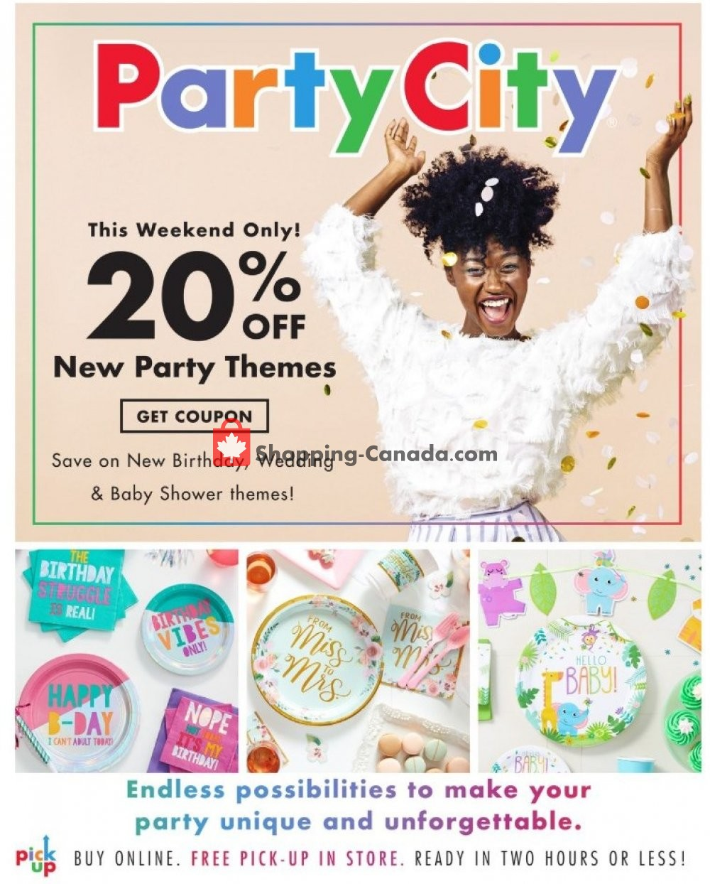 Flyer Party City Canada - from Friday March 8, 2019 to Sunday March 10, 2019