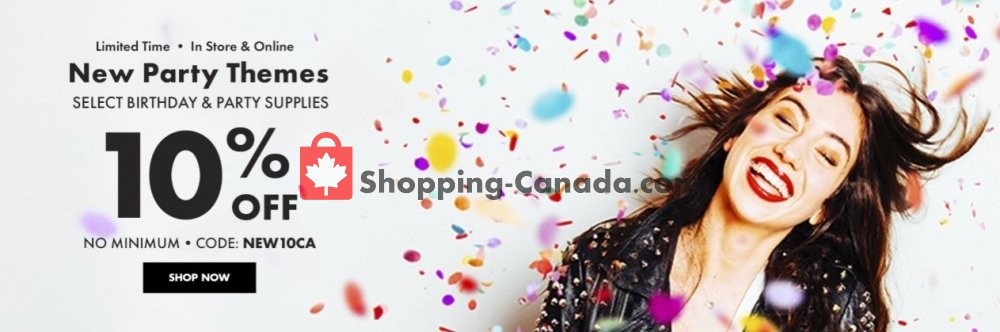 Flyer and weekly ads: Party City Canada - (Special offers) - from