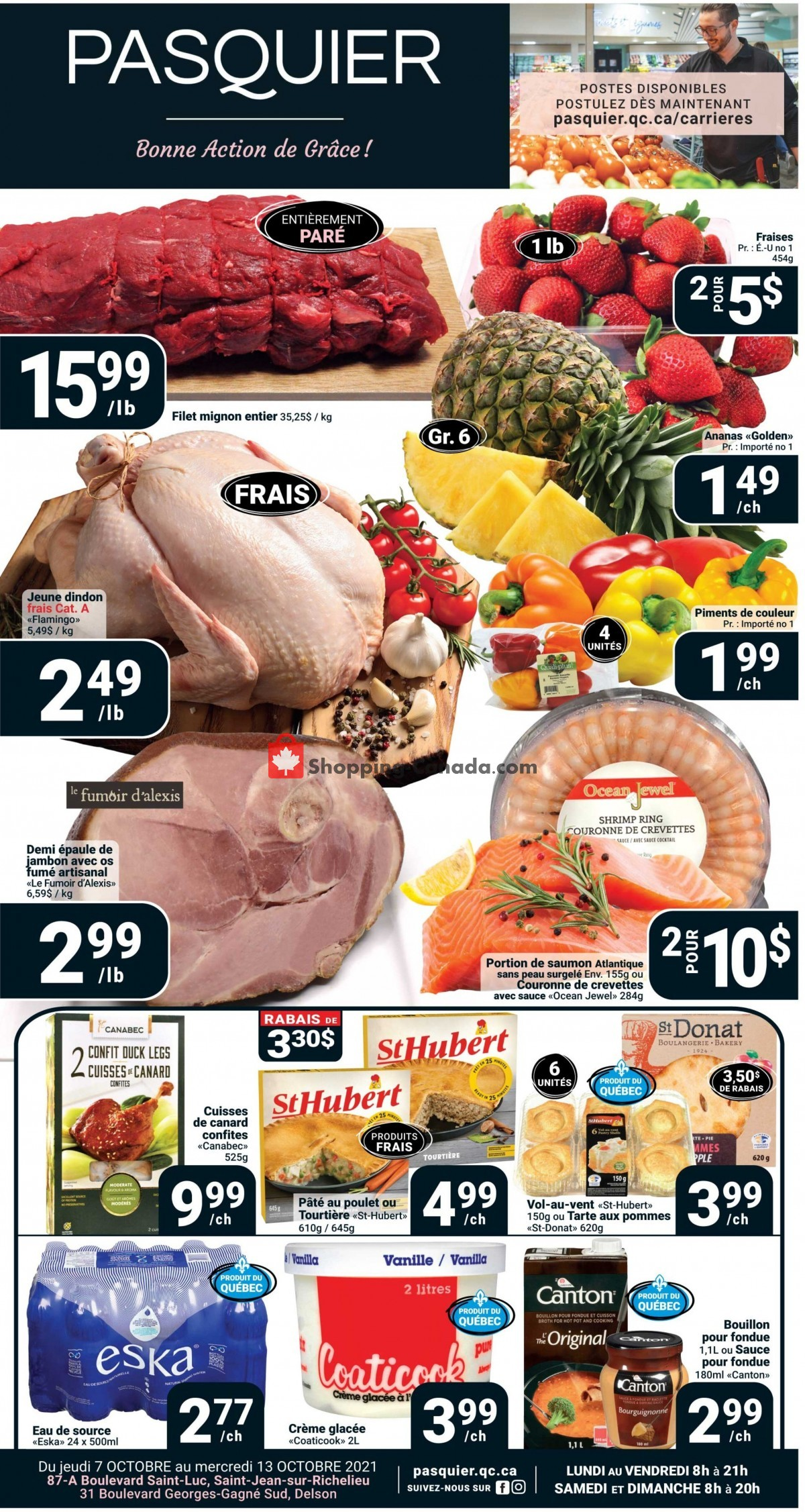 Flyer Pasquier Canada - from Thursday October 7, 2021 to Wednesday October 13, 2021