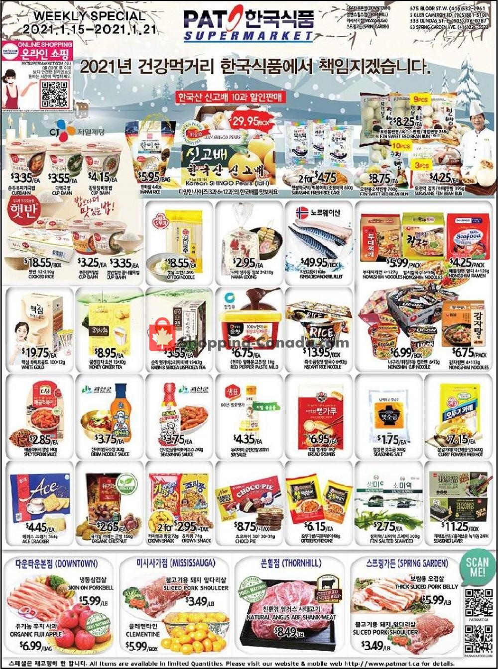 Flyer PAT Mart Canada - from Friday January 15, 2021 to Thursday January 21, 2021