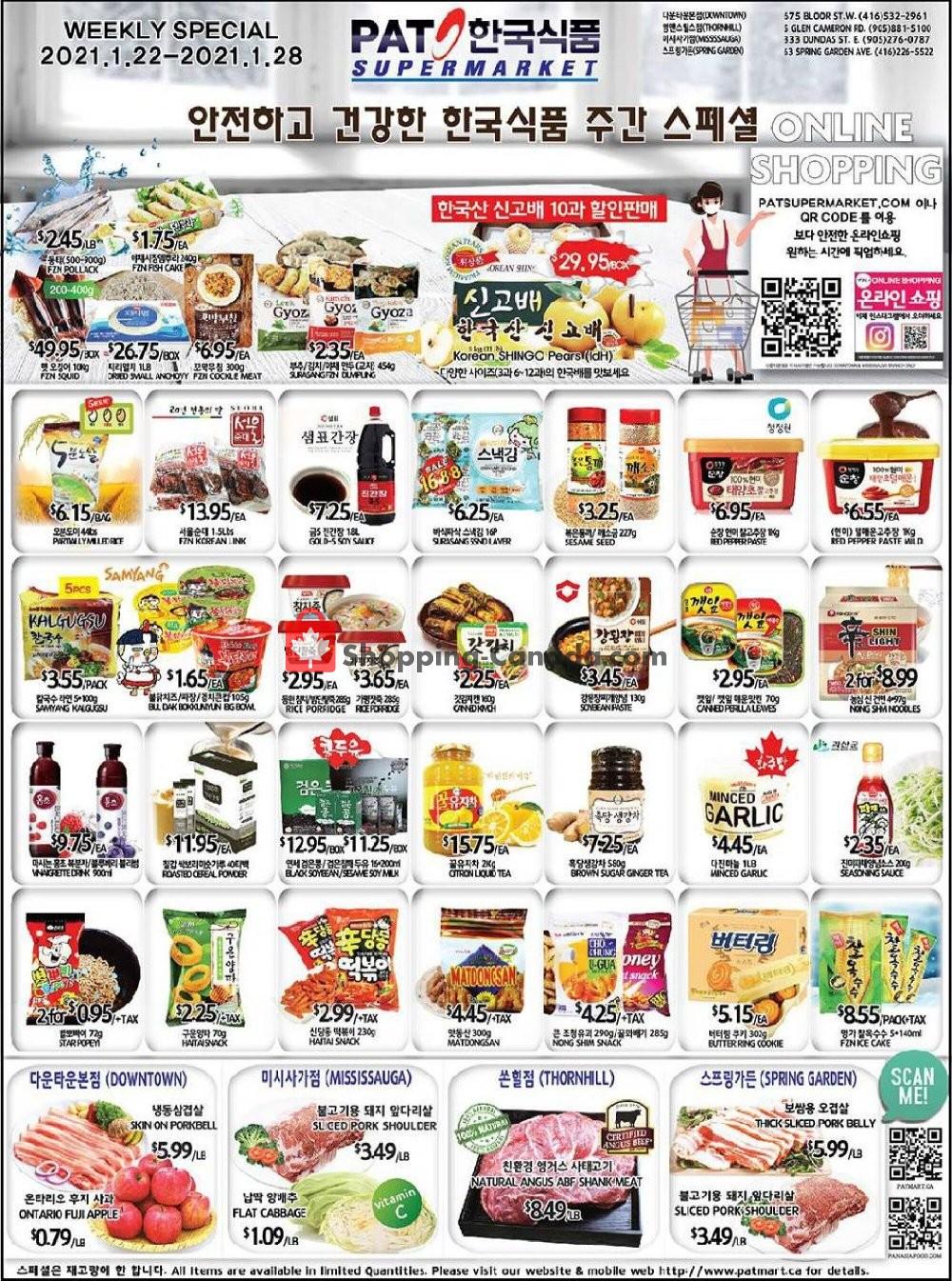 Flyer PAT Mart Canada - from Friday January 22, 2021 to Thursday January 28, 2021
