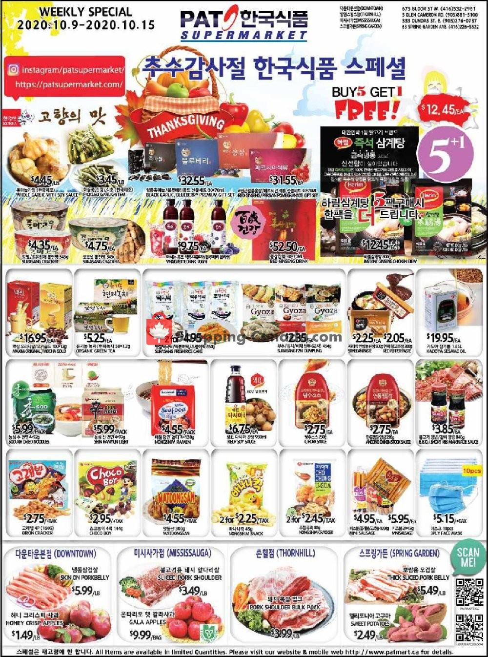 Flyer PAT Mart Canada - from Friday October 9, 2020 to Thursday October 15, 2020