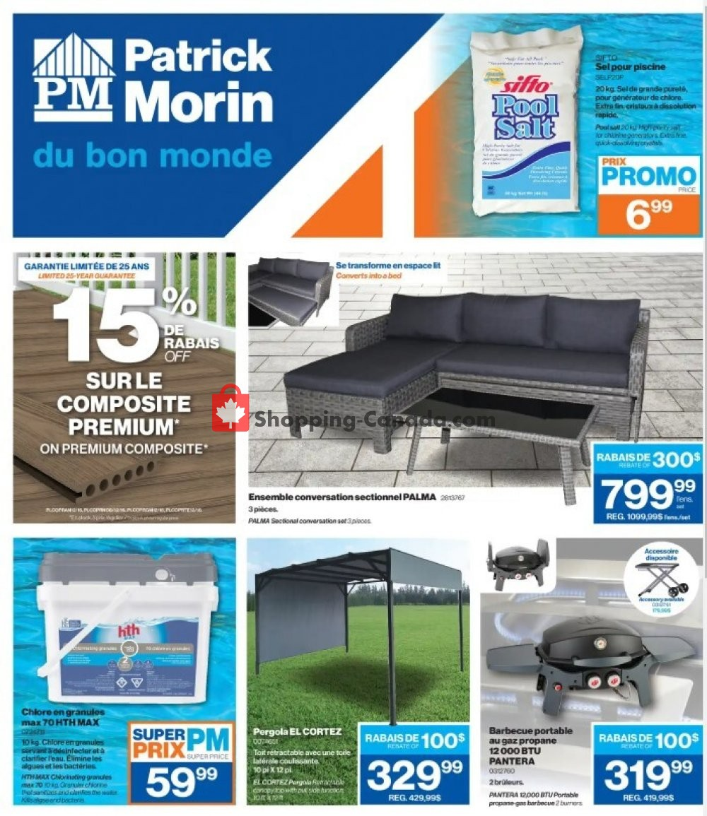 Flyer Patrick Morin Canada - from Thursday July 2, 2020 to Wednesday July 8, 2020