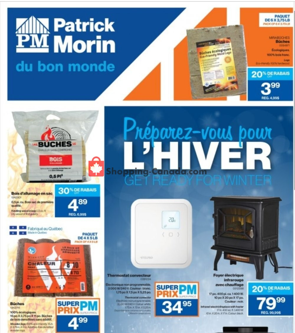 Flyer Patrick Morin Canada - from Thursday October 15, 2020 to Wednesday October 21, 2020