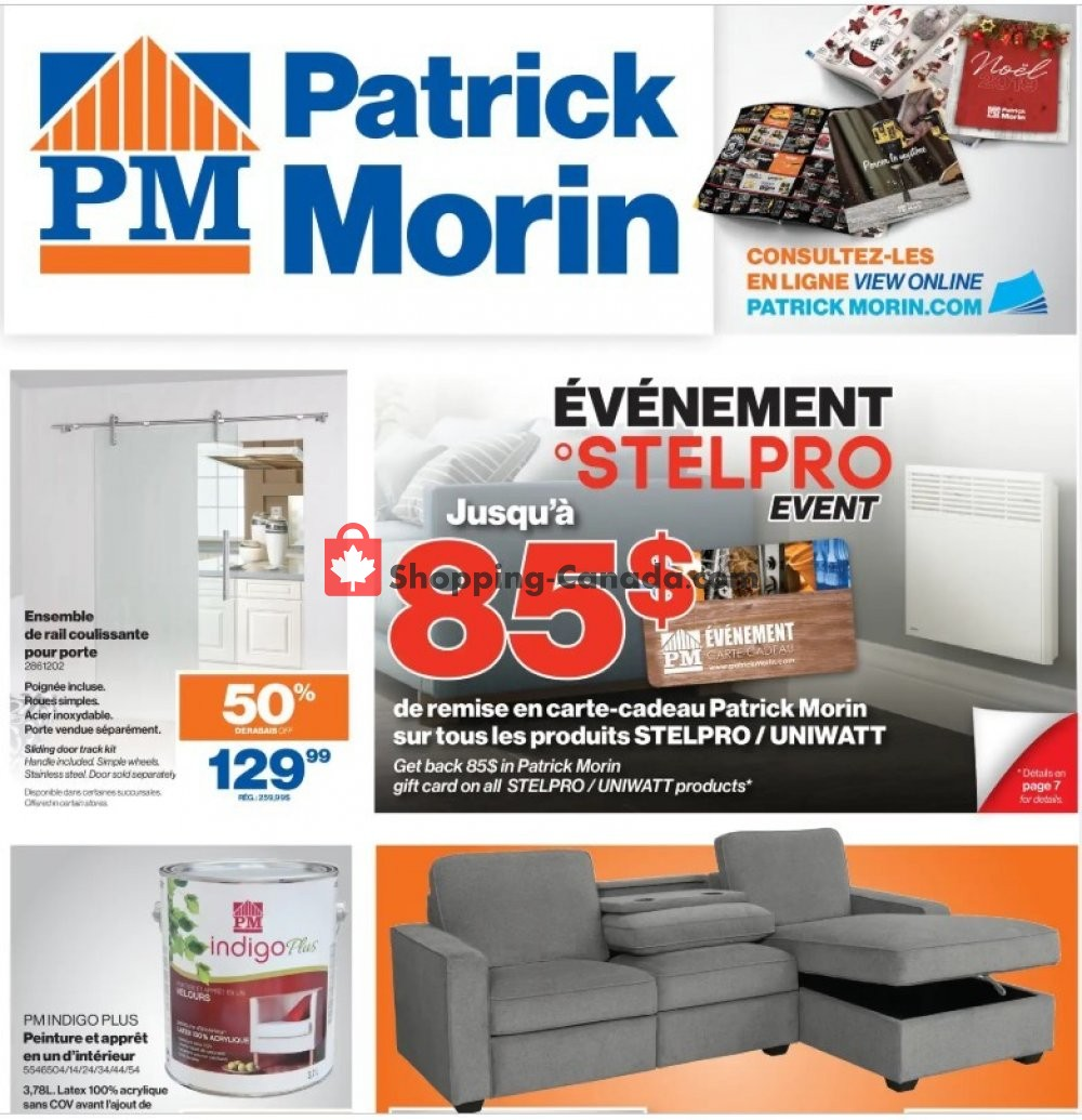 Flyer Patrick Morin Canada - from Thursday November 7, 2019 to Wednesday November 13, 2019