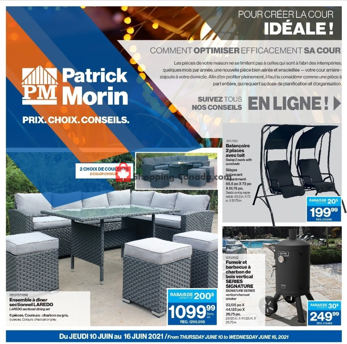 Flyer Patrick Morin Canada - from Thursday June 10, 2021 to Wednesday June 16, 2021