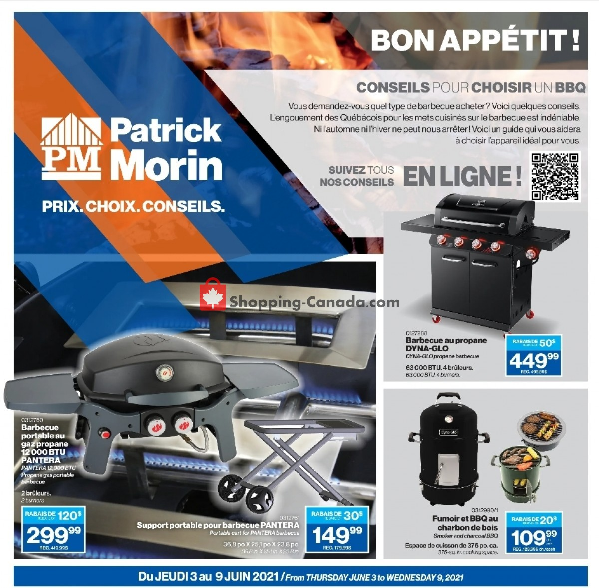 Flyer Patrick Morin Canada - from Thursday June 3, 2021 to Wednesday June 9, 2021