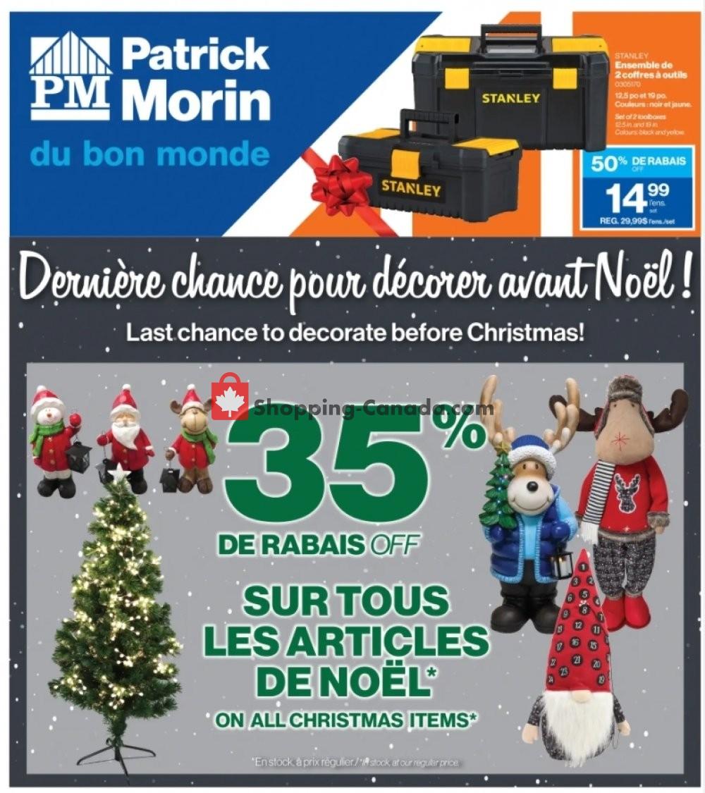 Flyer Patrick Morin Canada - from Thursday December 17, 2020 to Wednesday December 23, 2020