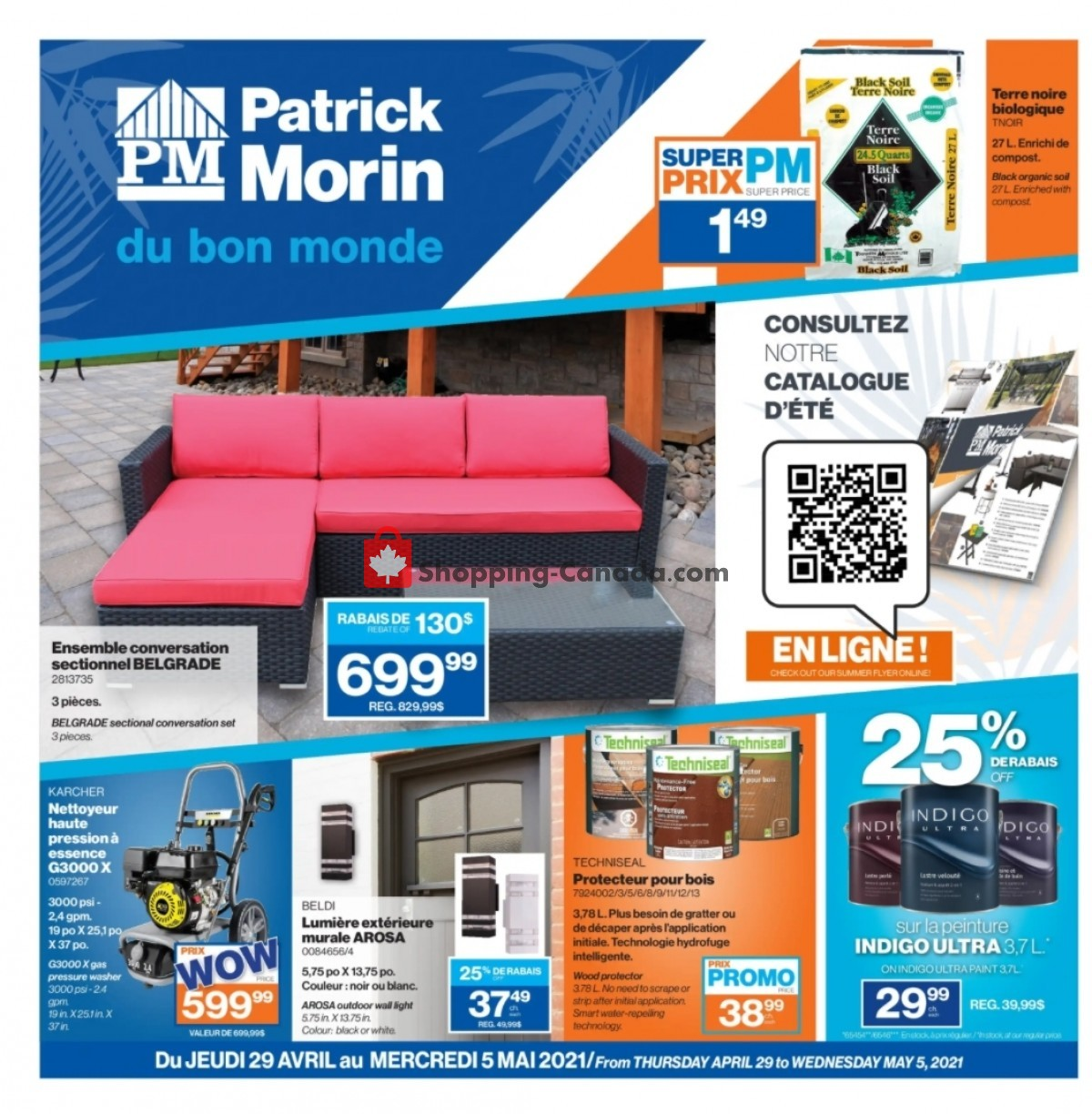 Flyer Patrick Morin Canada - from Thursday April 29, 2021 to Wednesday May 5, 2021