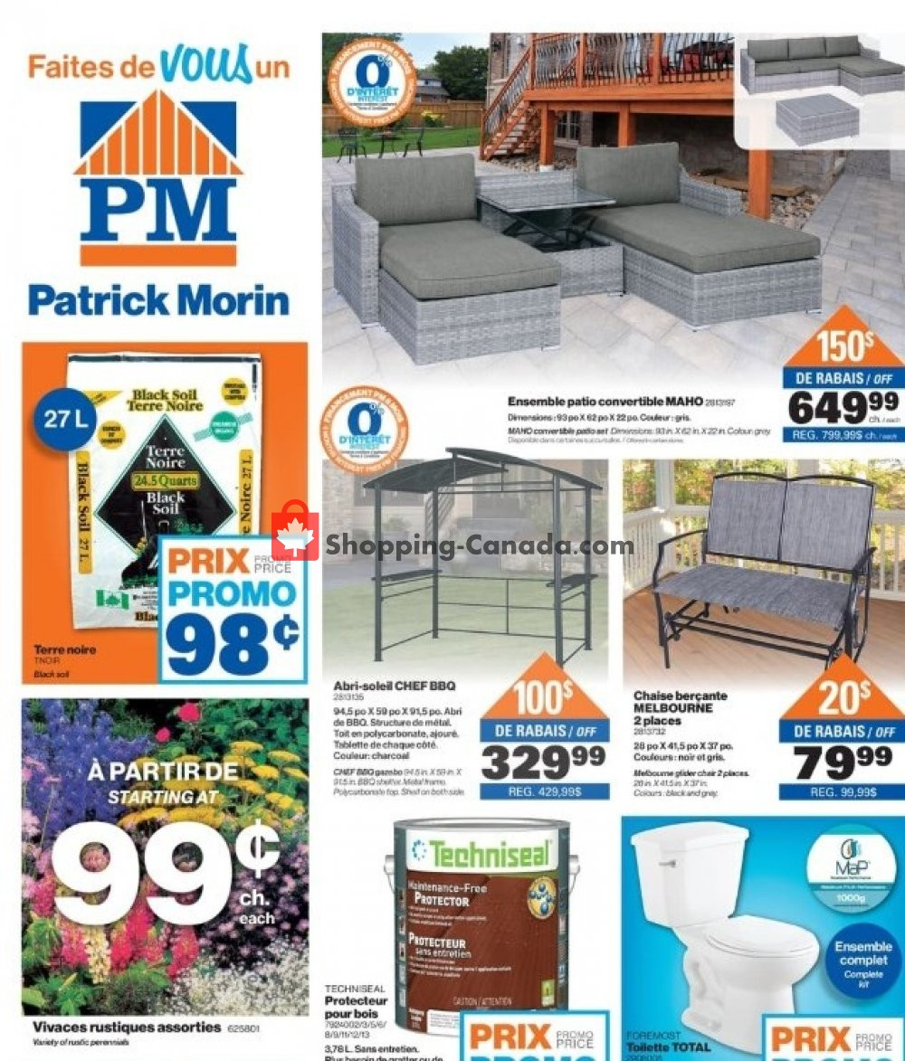 Flyer Patrick Morin Canada - from Thursday May 2, 2019 to Wednesday May 8, 2019