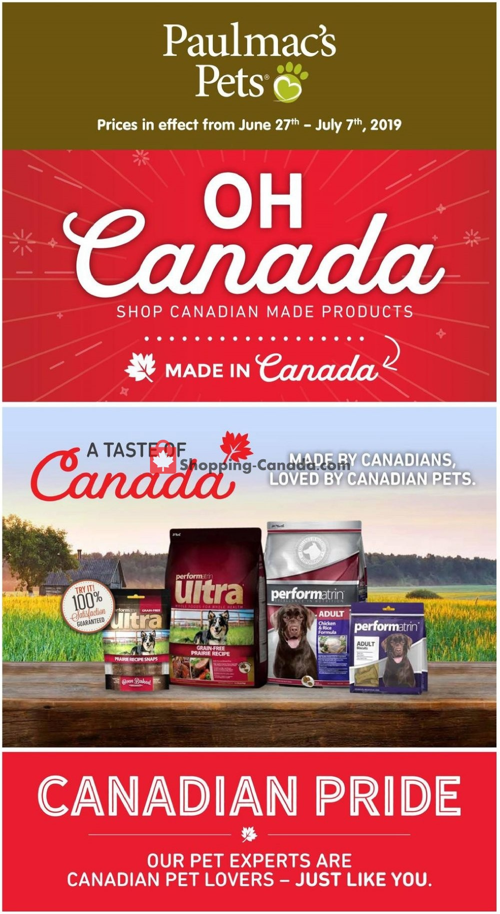 Flyer Paulmac's Pets Canada - from Thursday June 27, 2019 to Sunday July 7, 2019