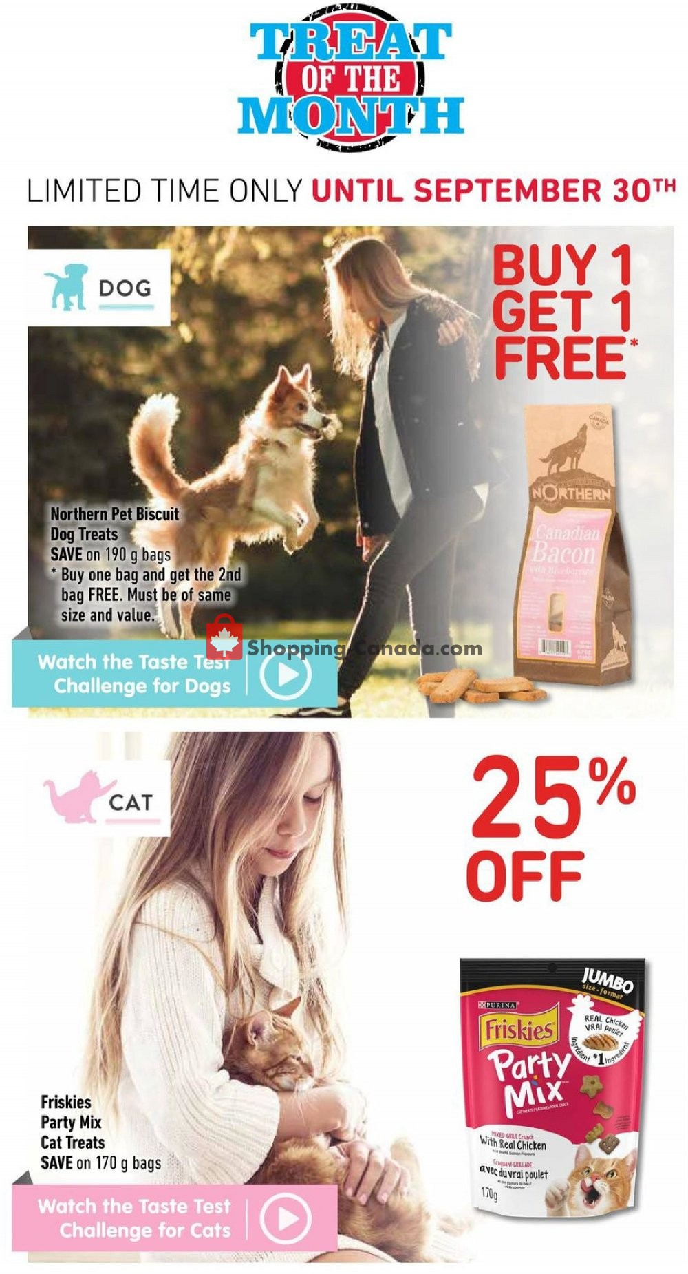 Flyer Paulmac's Pets Canada - from Thursday September 5, 2019 to Sunday September 15, 2019