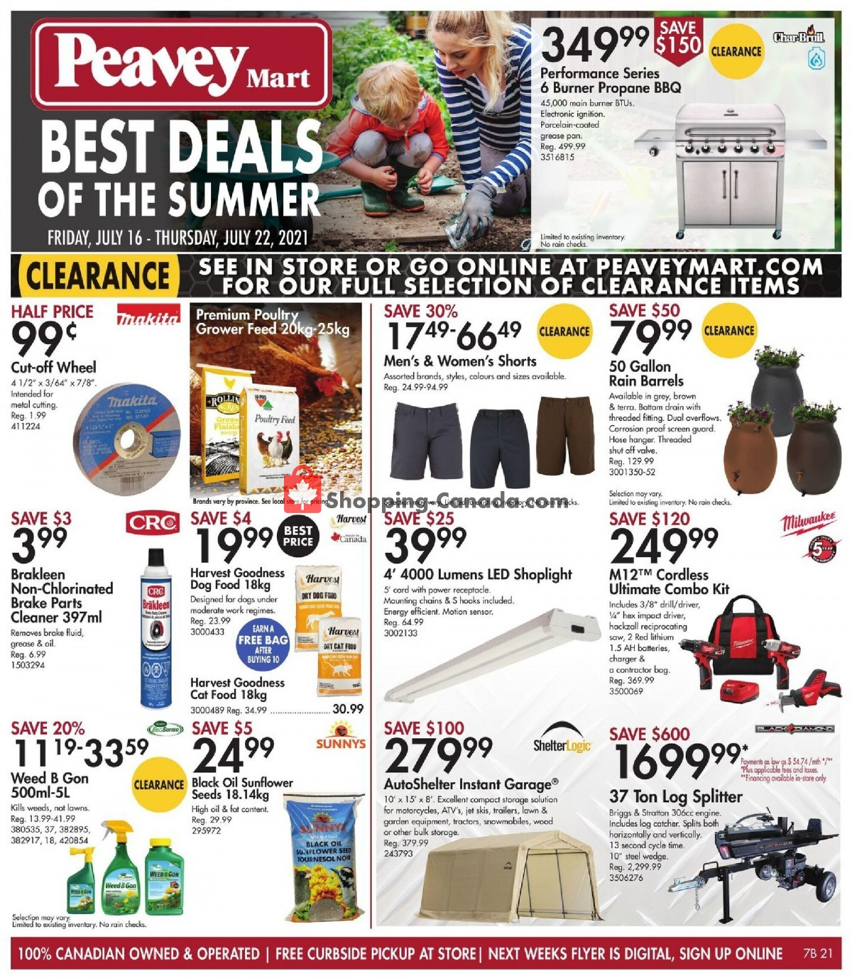Flyer Peavey Mart Canada - from Friday July 16, 2021 to Thursday July 22, 2021