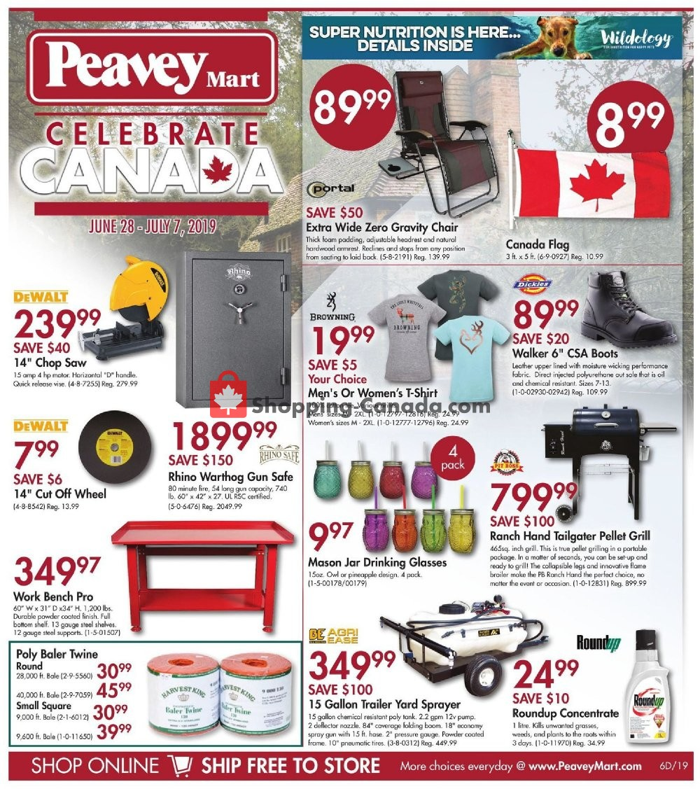 Flyer Peavey Mart Canada - from Friday June 28, 2019 to Sunday July 7, 2019