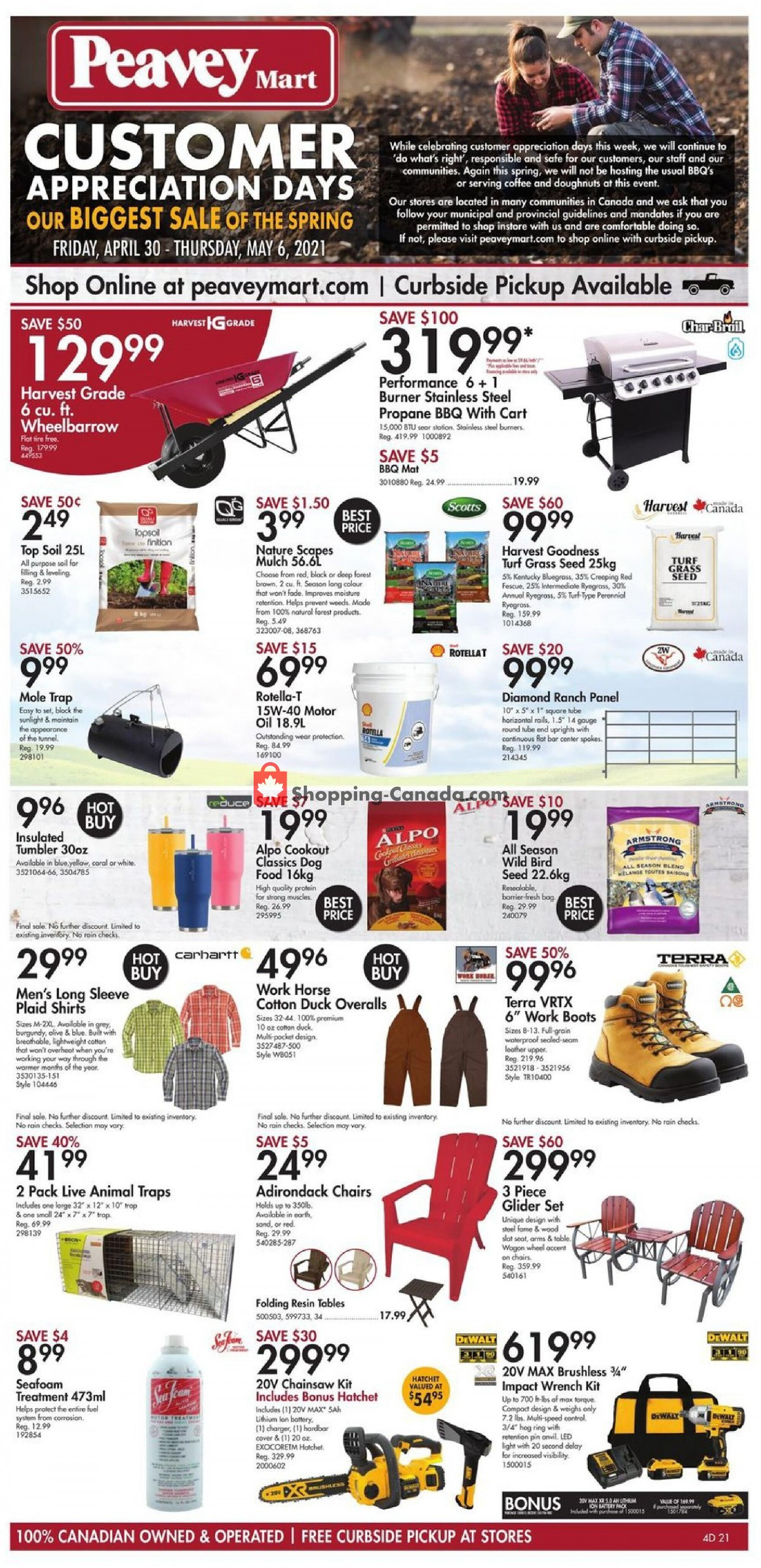 Flyer Peavey Mart Canada - from Friday April 30, 2021 to Thursday May 6, 2021
