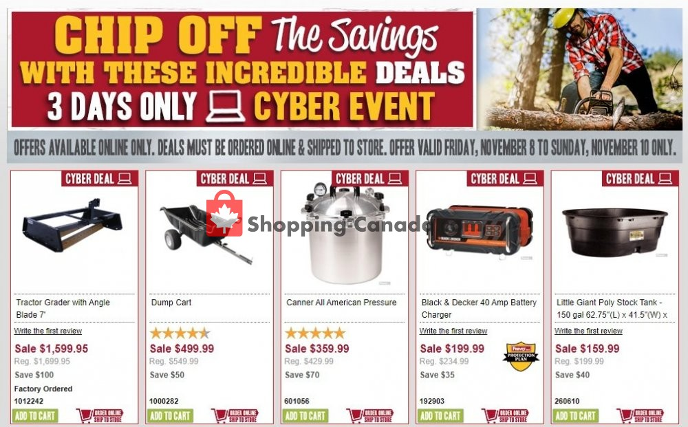 Flyer Peavey Mart Canada - from Friday November 8, 2019 to Sunday November 10, 2019