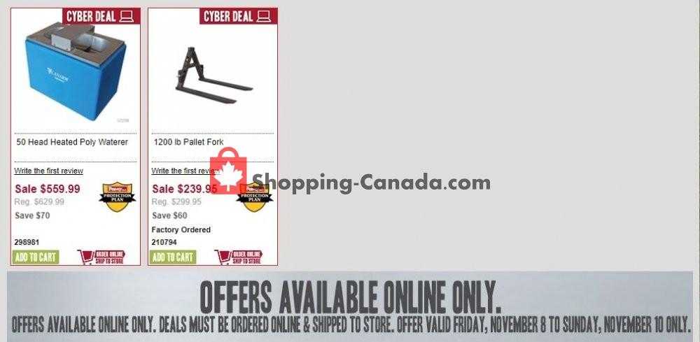 Flyer Peavey Mart Canada - from Friday November 8, 2019 to Sunday November 10, 2019