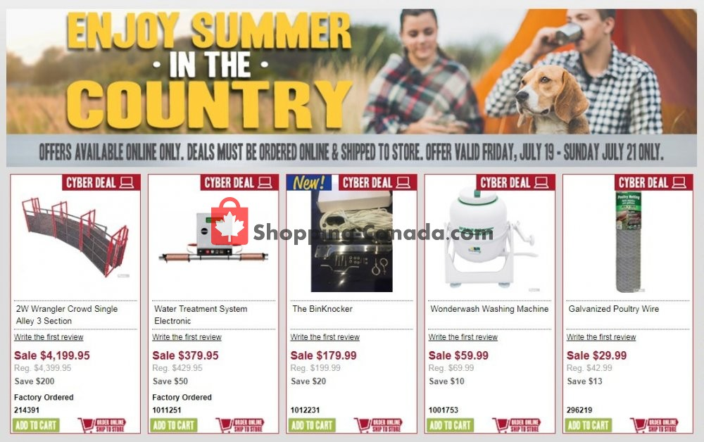 Flyer Peavey Mart Canada - from Friday July 19, 2019 to Sunday July 21, 2019