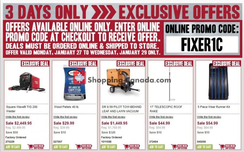 Flyer Peavey Mart Canada - from Monday January 27, 2020 to Wednesday January 29, 2020