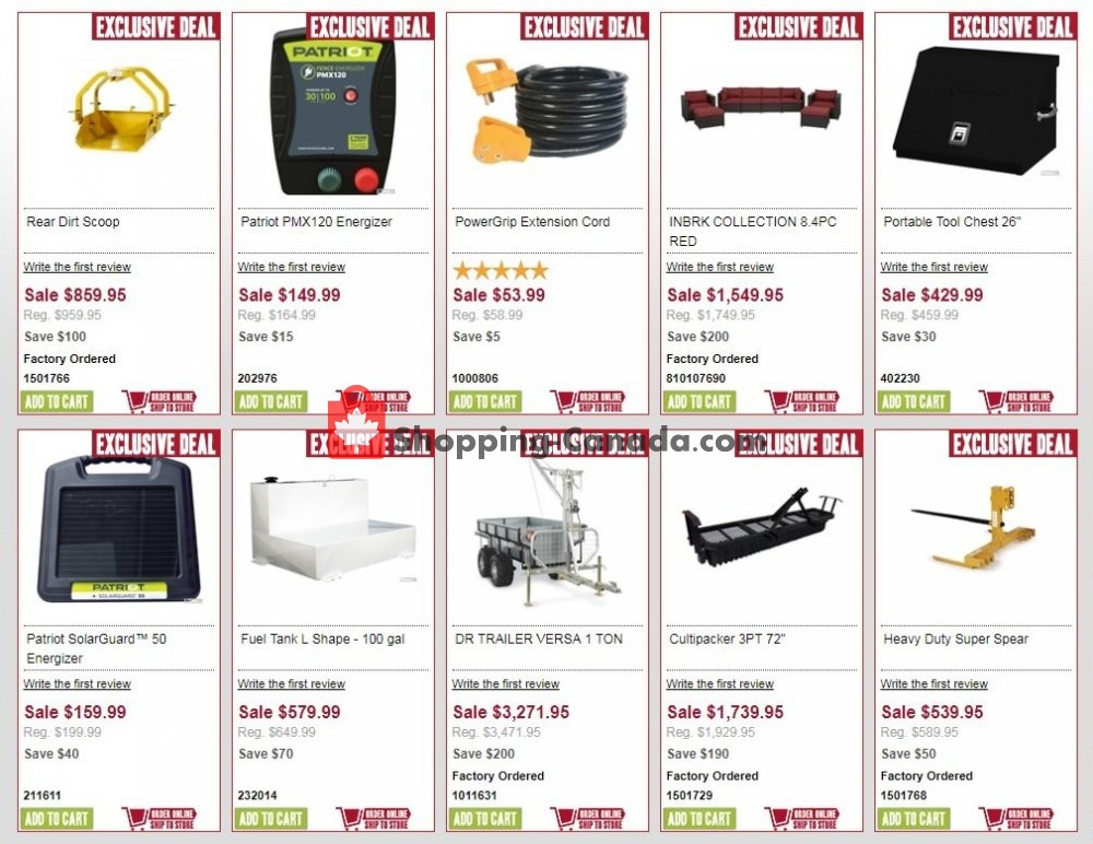 Flyer Peavey Mart Canada - from Monday July 8, 2019 to Tuesday July 9, 2019