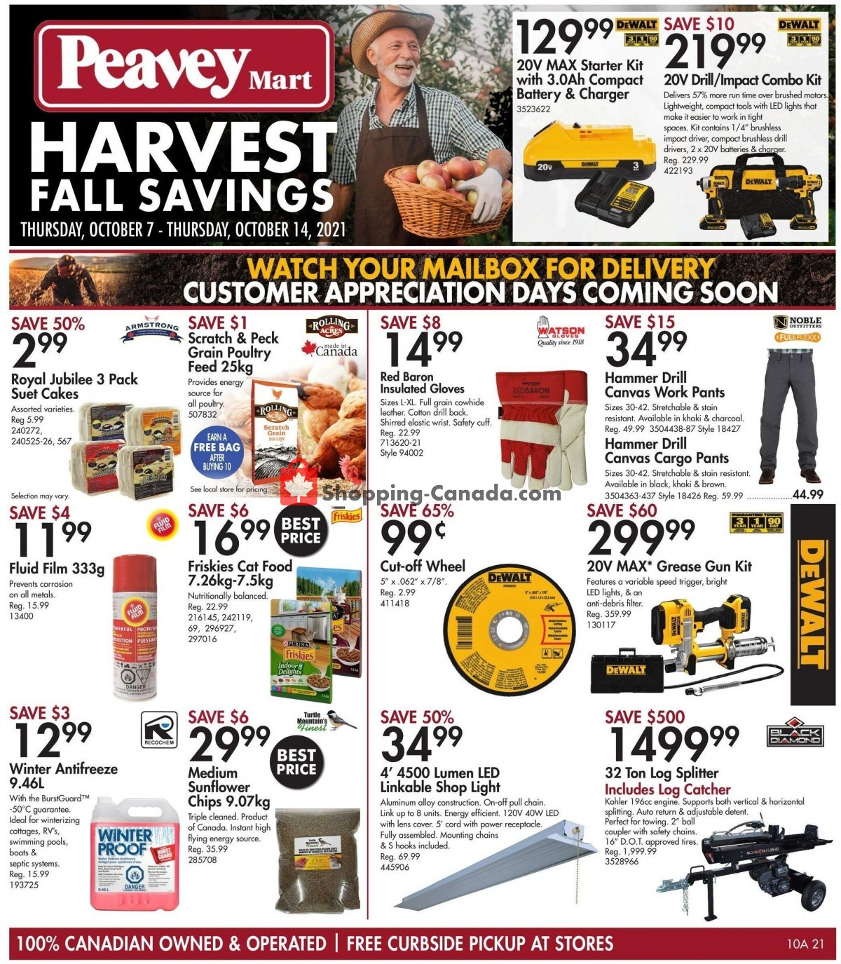 Flyer Peavey Mart Canada - from Thursday October 7, 2021 to Thursday October 14, 2021