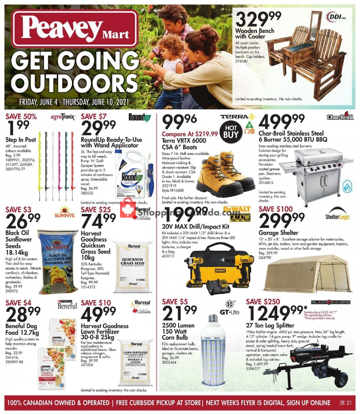Flyer Peavey Mart Canada - from Friday June 4, 2021 to Thursday June 10, 2021