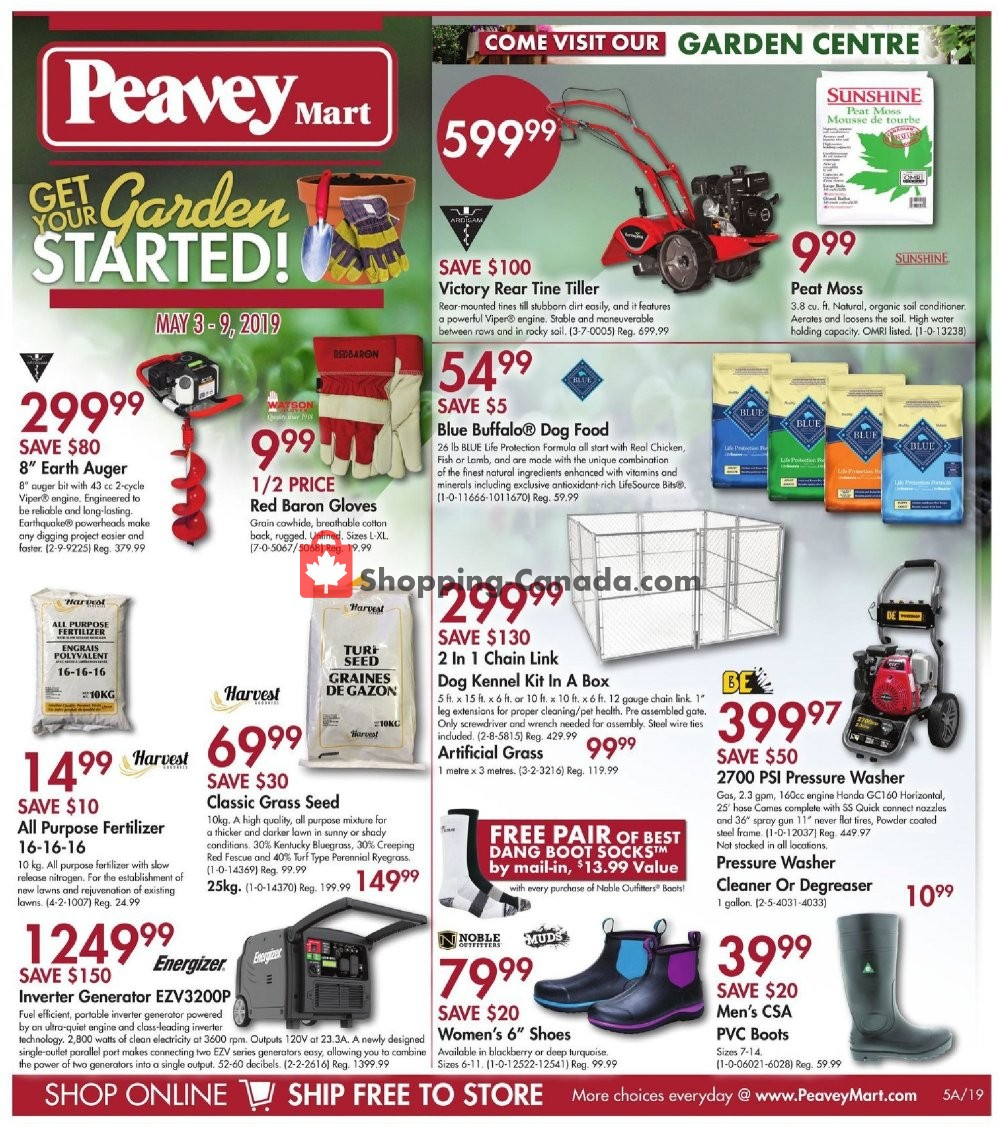 Flyer Peavey Mart Canada - from Friday May 3, 2019 to Thursday May 9, 2019