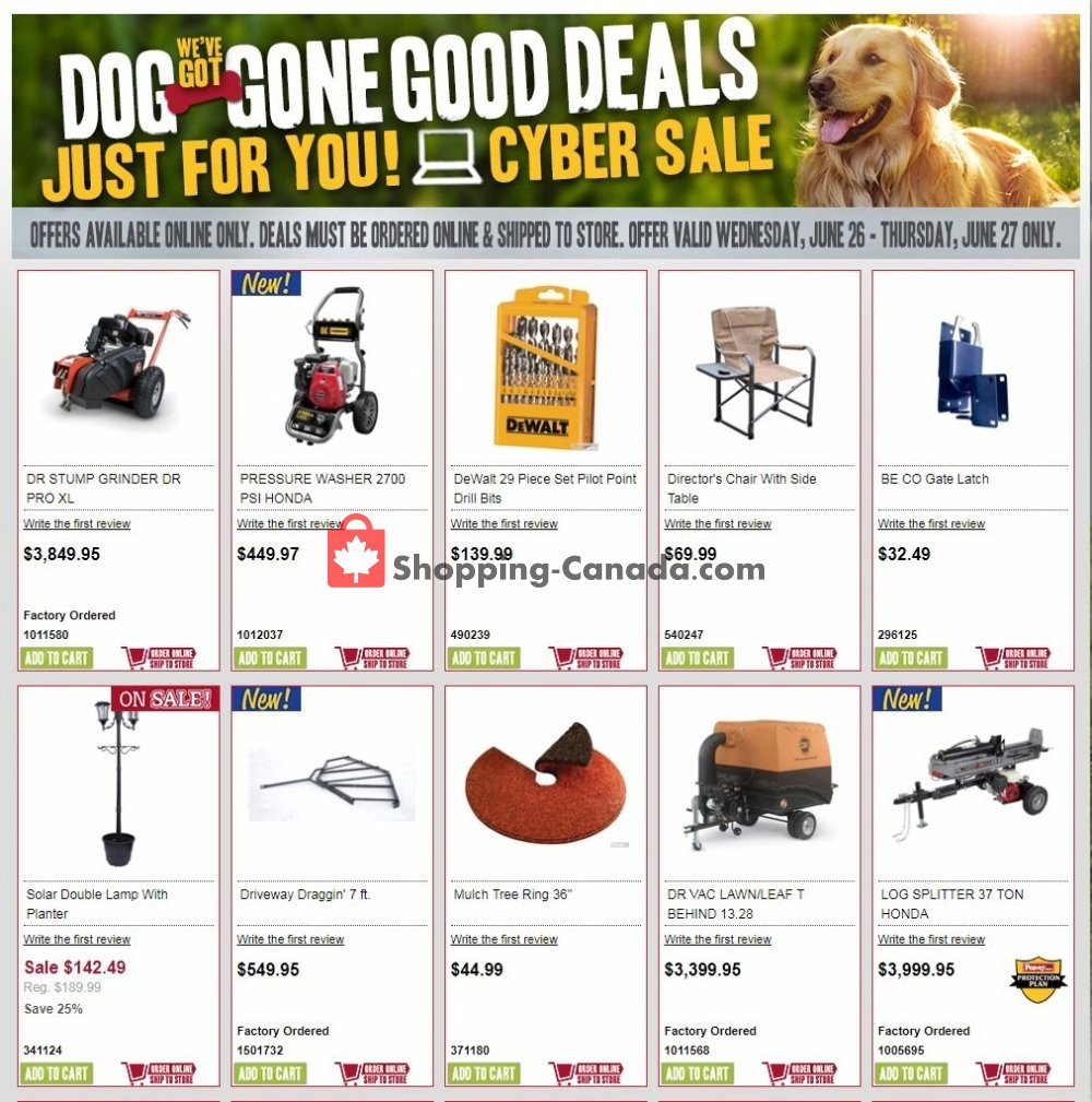 Flyer Peavey Mart Canada - from Wednesday June 26, 2019 to Thursday June 27, 2019