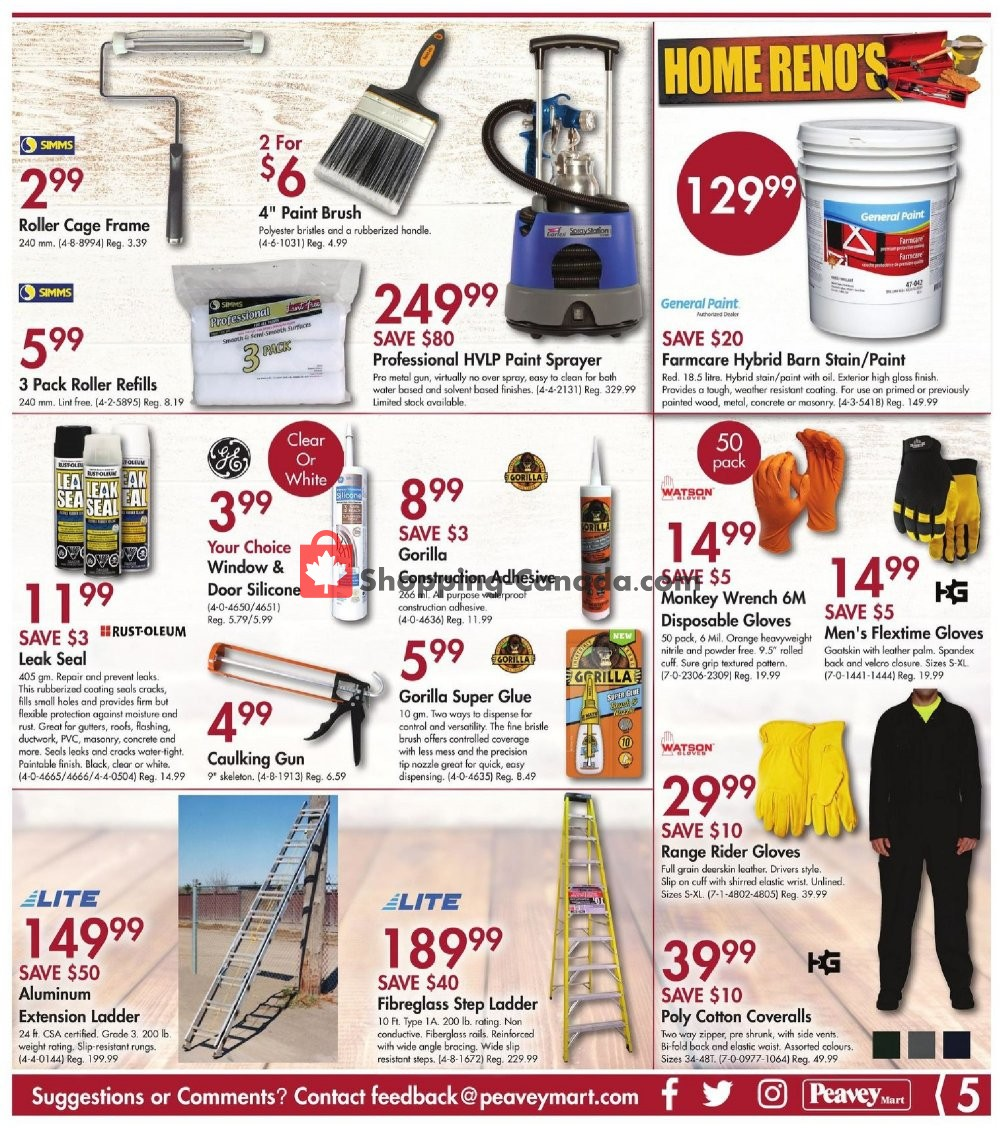 Flyer Peavey Mart Canada - from Friday August 9, 2019 to Sunday August 18, 2019