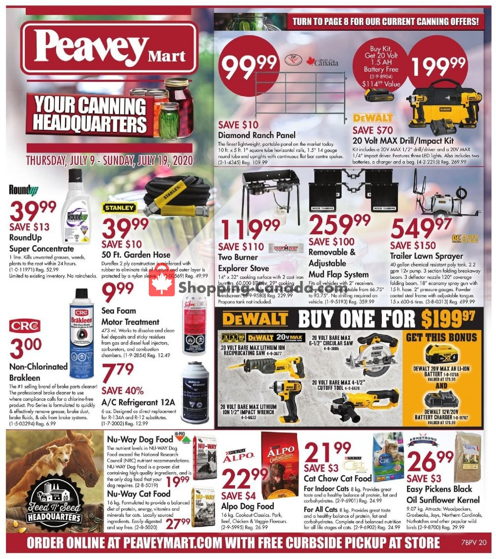 Flyer Peavey Mart Canada - from Thursday July 9, 2020 to Sunday July 19, 2020
