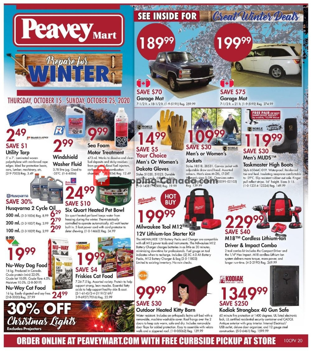Flyer Peavey Mart Canada - from Thursday October 15, 2020 to Wednesday October 21, 2020