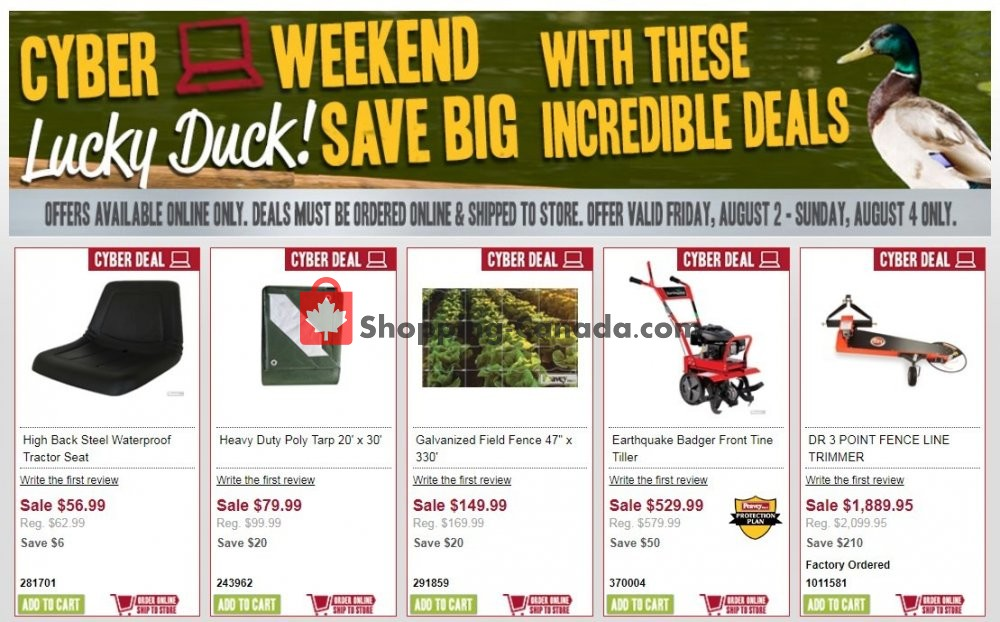 Flyer Peavey Mart Canada - from Friday August 2, 2019 to Sunday August 4, 2019