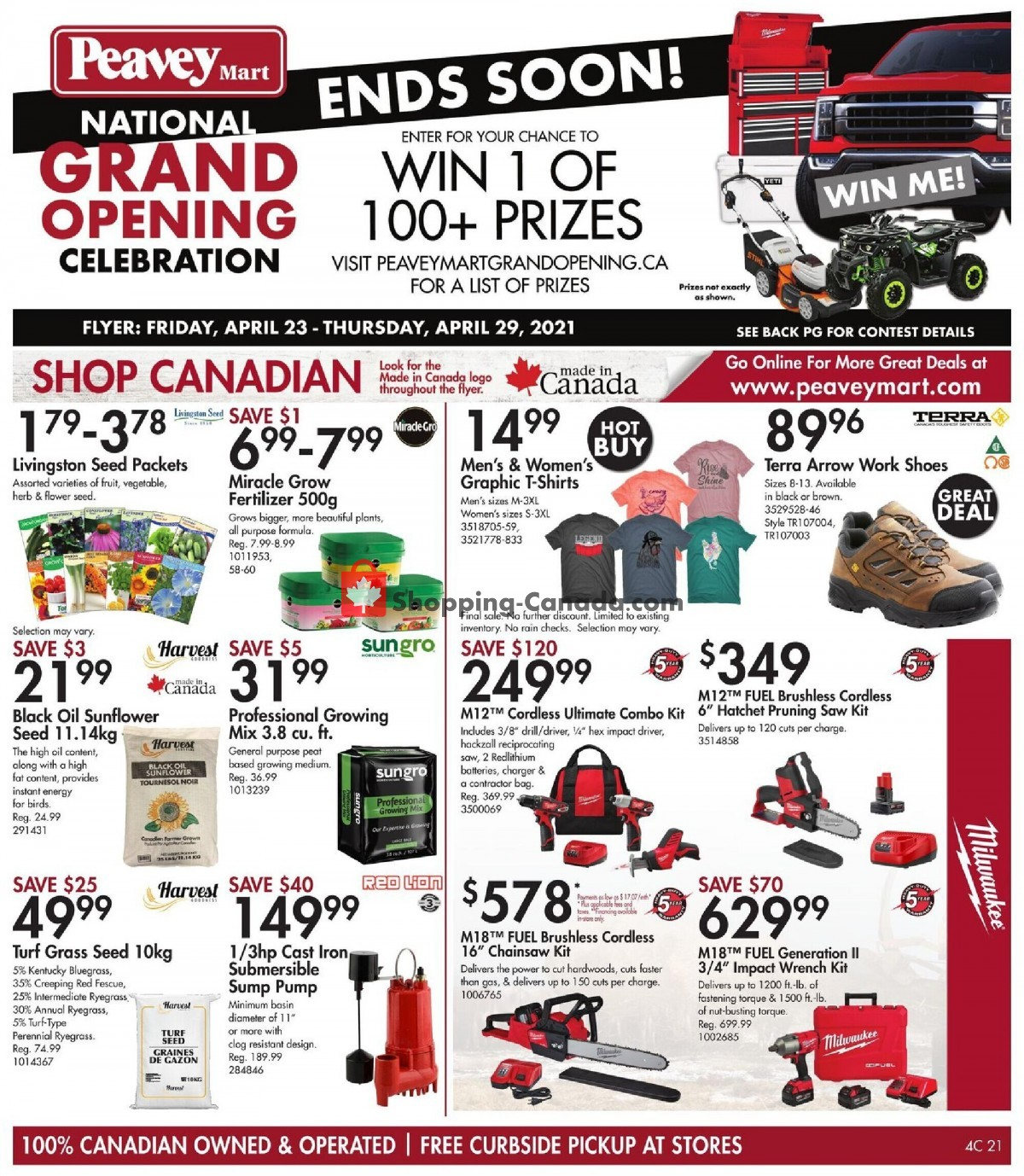 Flyer Peavey Mart Canada - from Friday April 23, 2021 to Thursday April 29, 2021