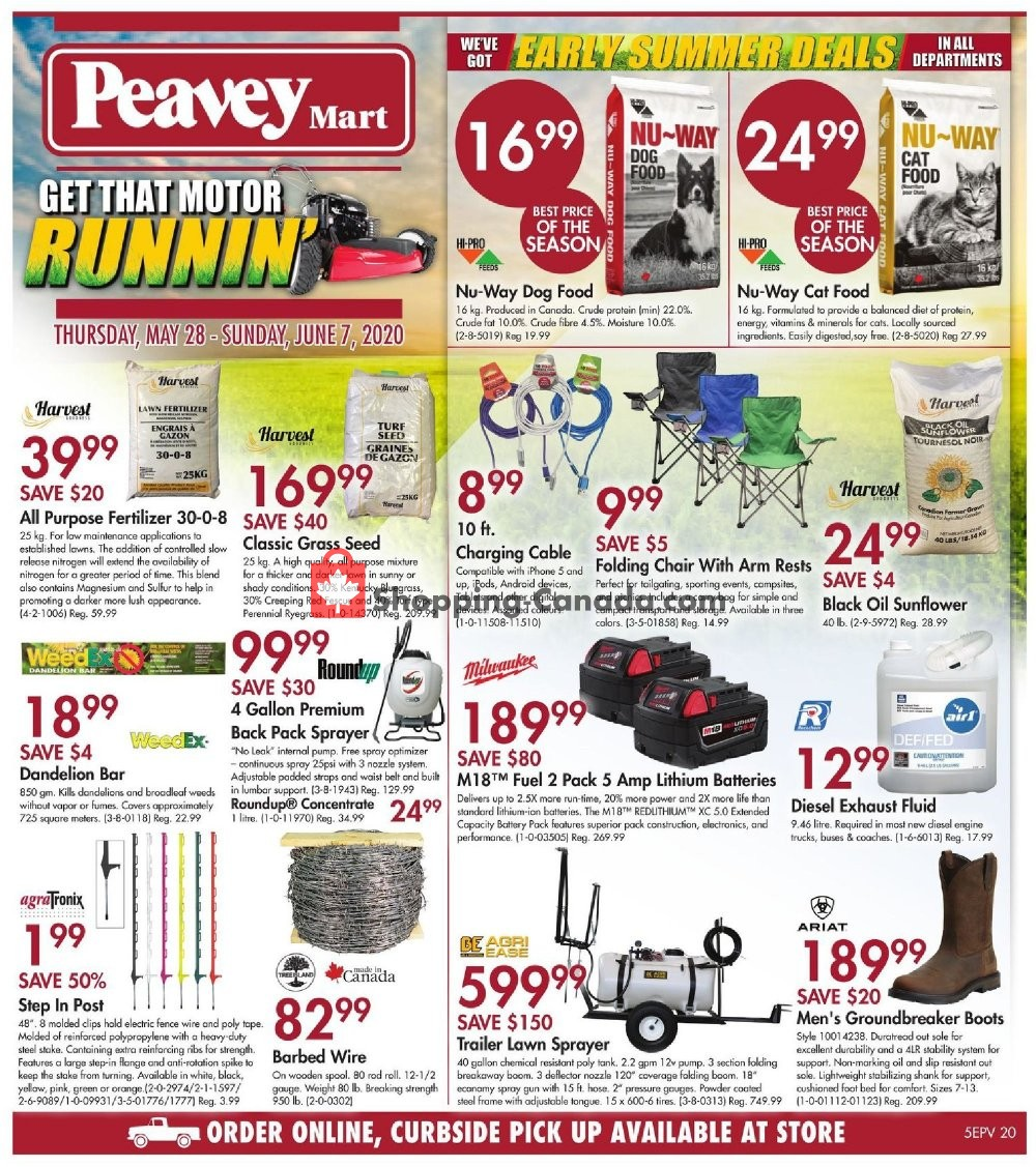 Flyer Peavey Mart Canada - from Thursday May 28, 2020 to Sunday June 7, 2020