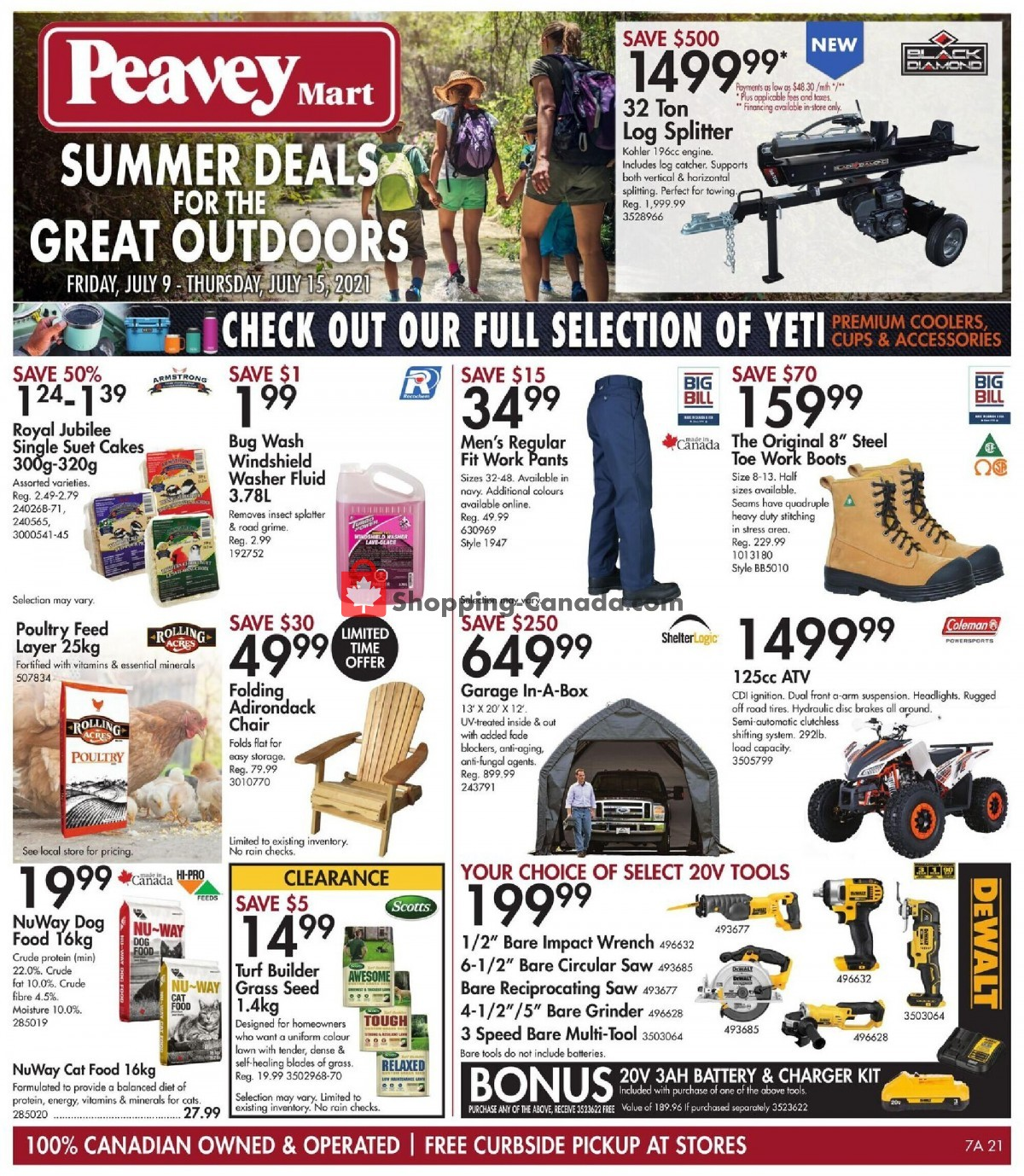 Flyer Peavey Mart Canada - from Friday July 9, 2021 to Thursday July 15, 2021
