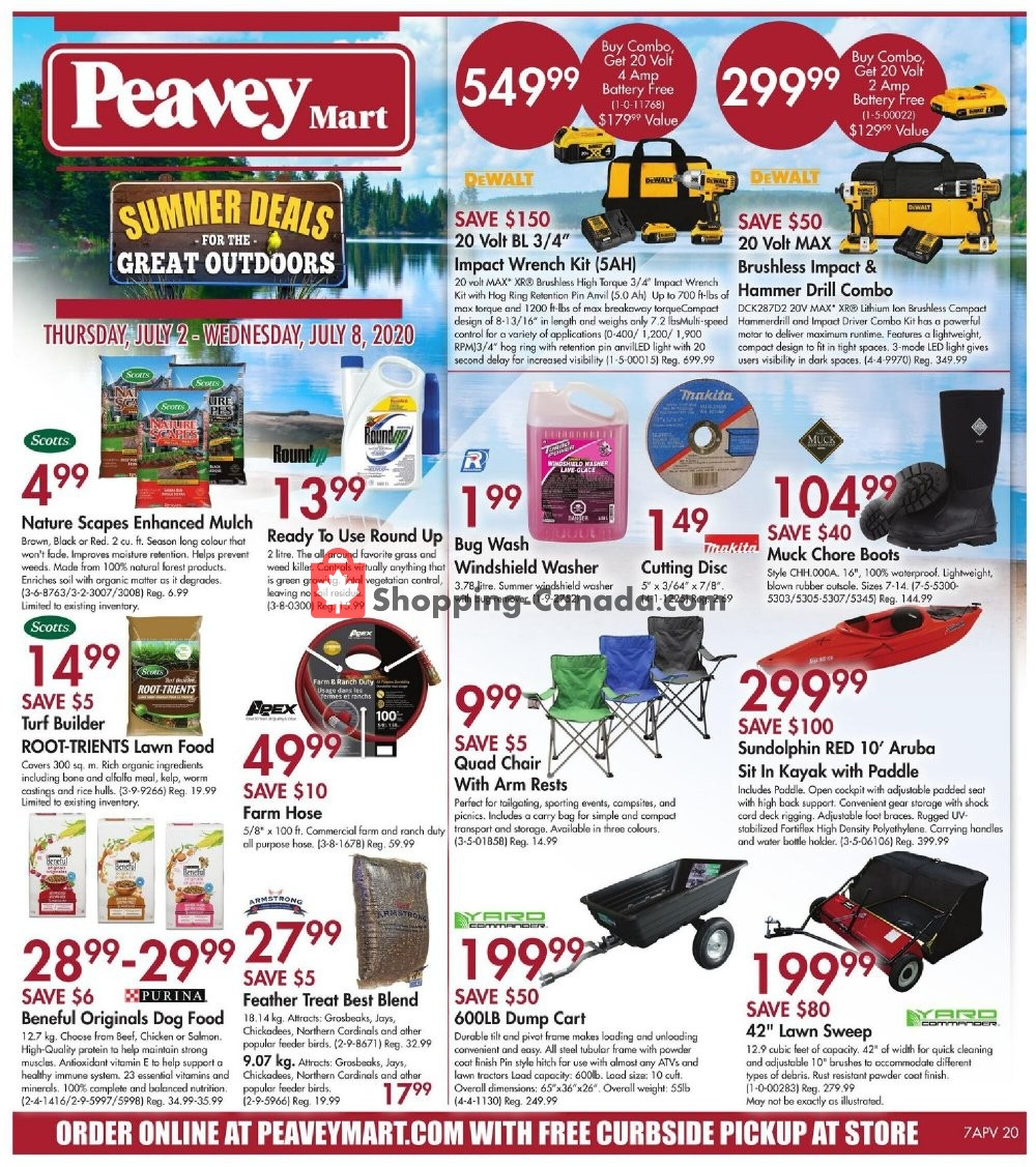 Flyer Peavey Mart Canada - from Thursday July 2, 2020 to Wednesday July 8, 2020