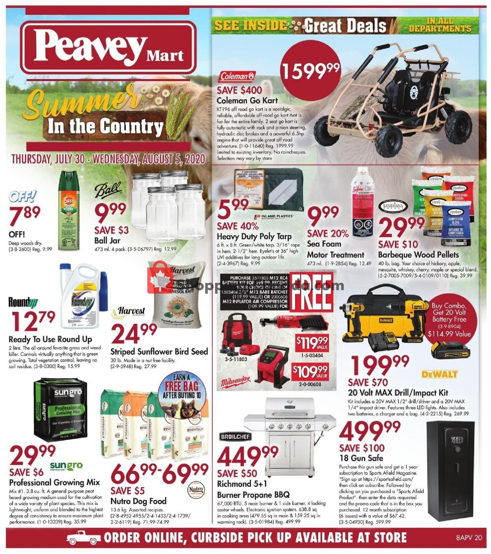 Flyer Peavey Mart Canada - from Thursday July 30, 2020 to Wednesday August 5, 2020