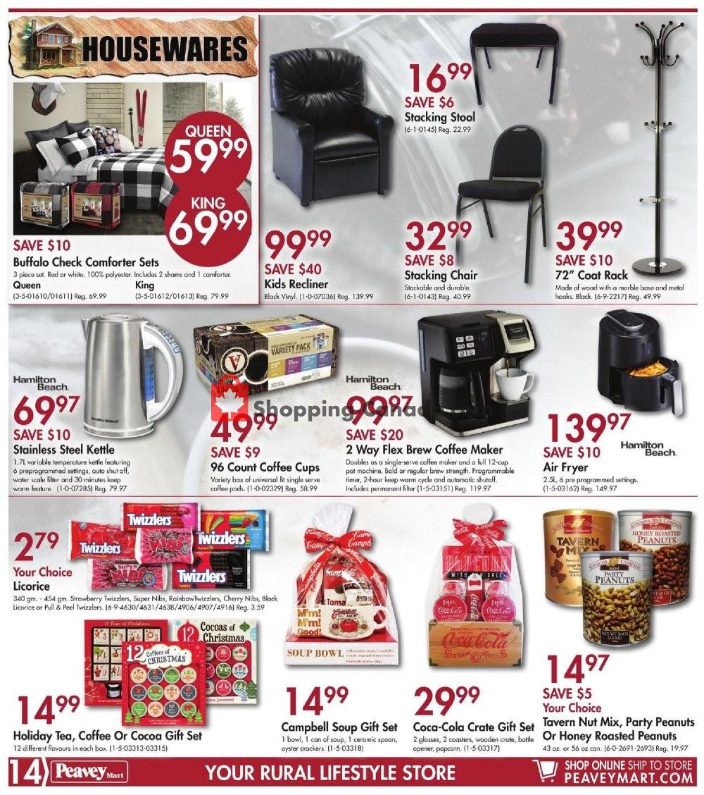Flyer Peavey Mart Canada - from Friday November 8, 2019 to Sunday November 17, 2019