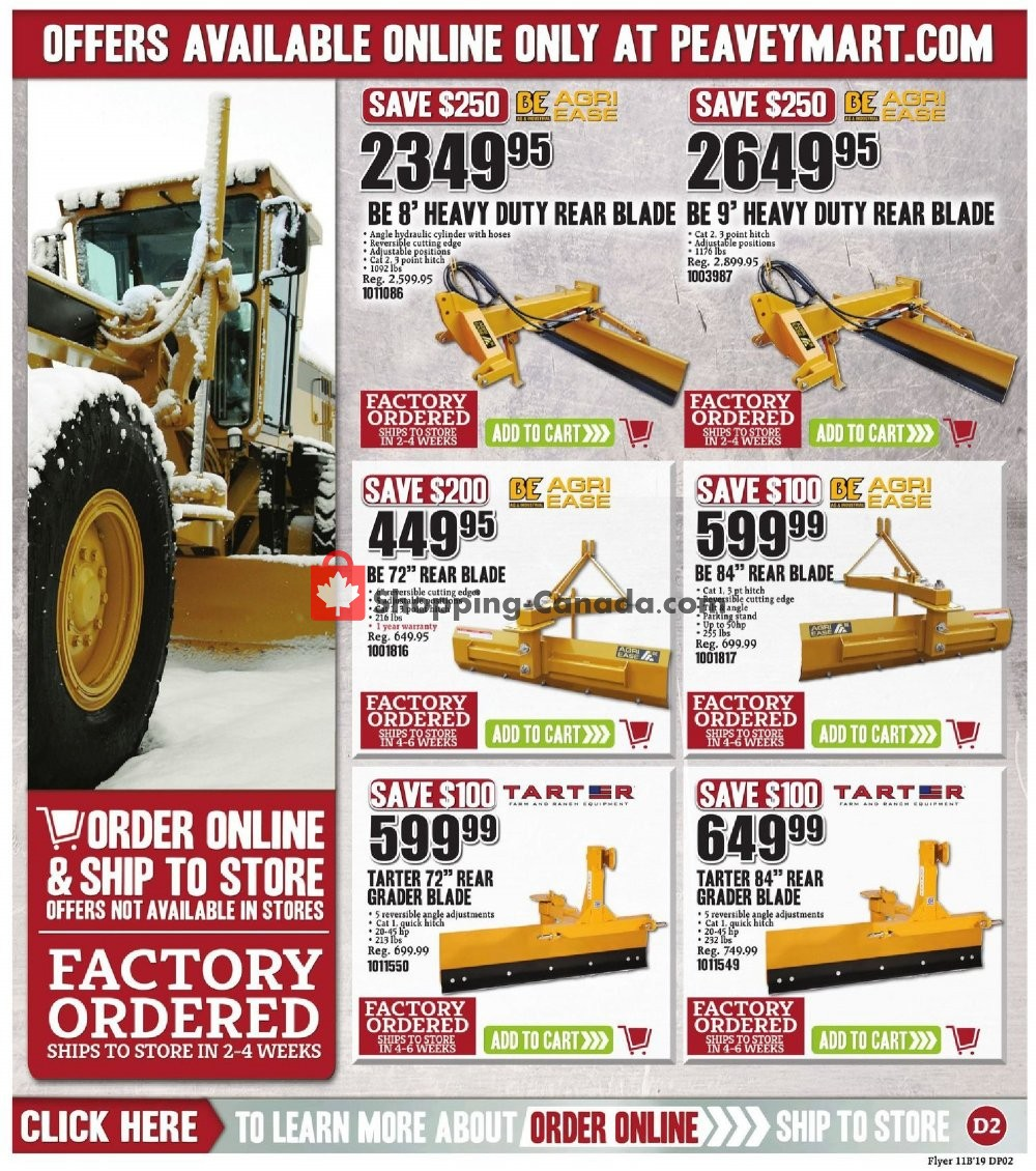 Flyer Peavey Mart Canada - from Friday November 8, 2019 to Sunday November 17, 2019